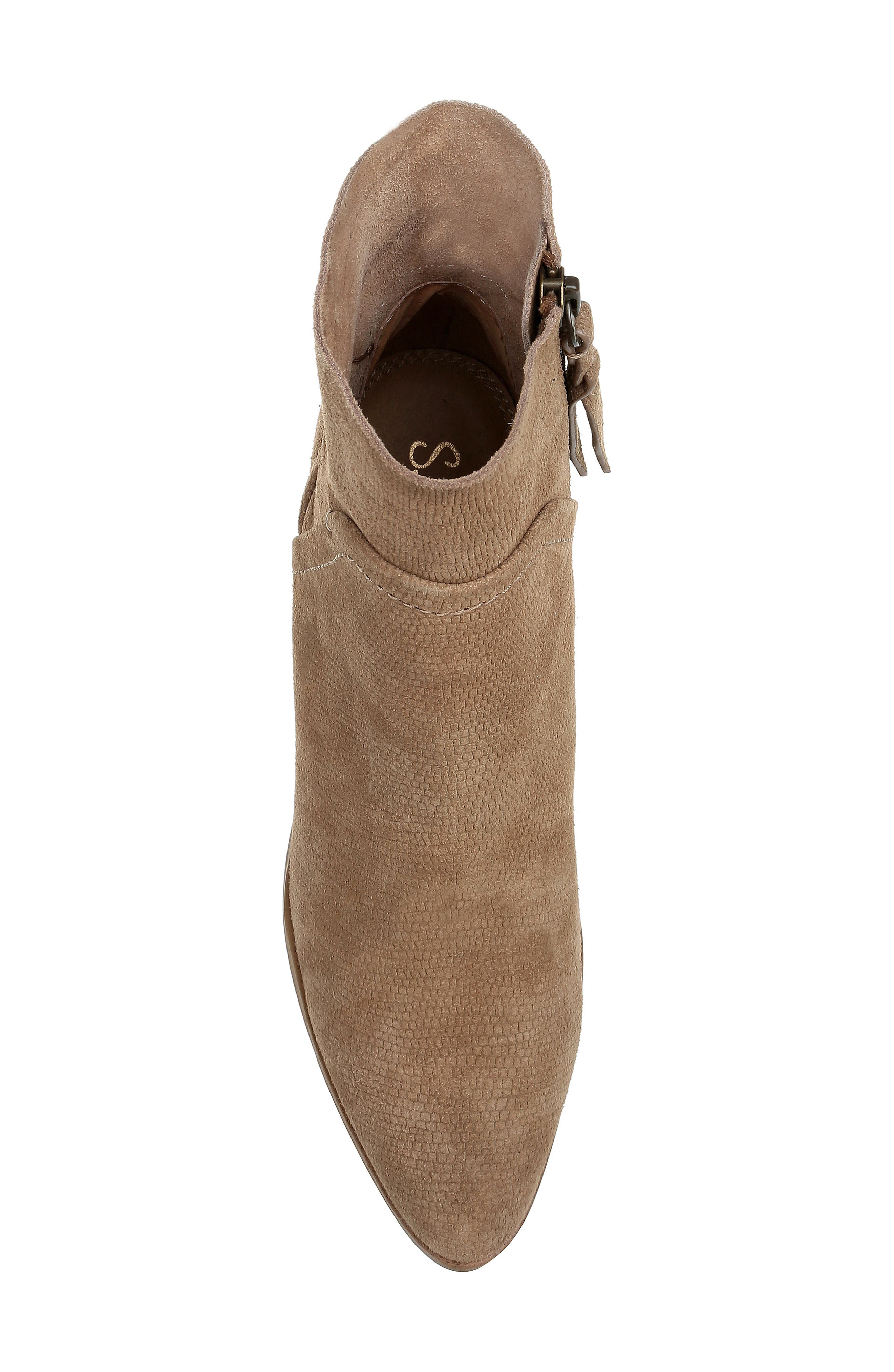 Cherie Bootie,                             Alternate thumbnail 5, color,                             OAT EMBOSSED SUEDE