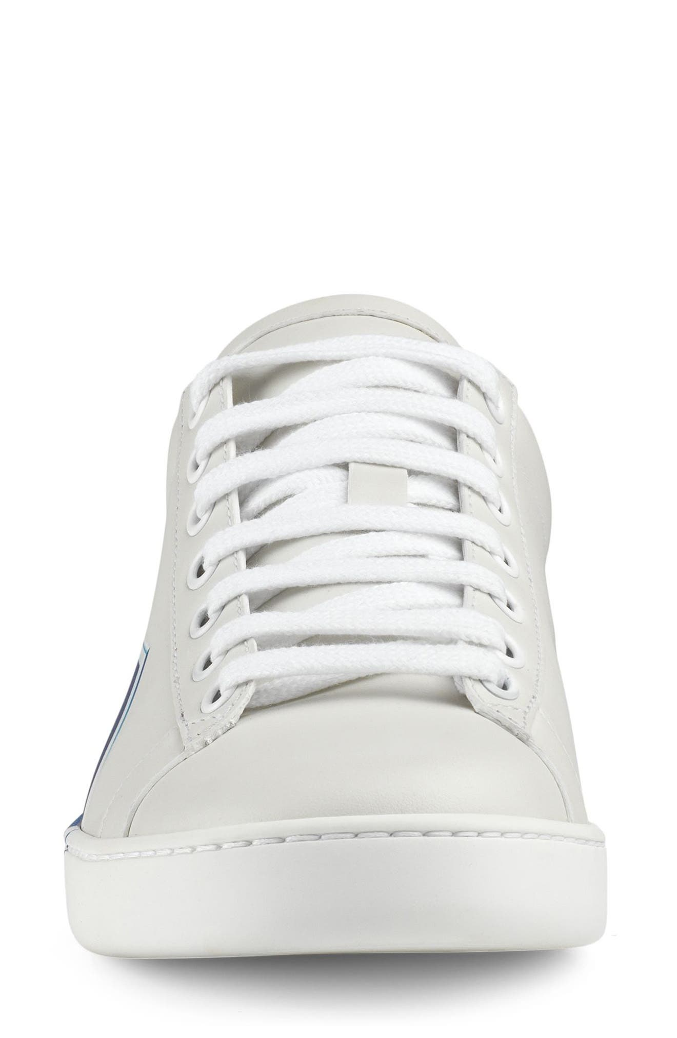 GUCCI,                             New Ace Loved Sneaker,                             Alternate thumbnail 3, color,                             WHITE