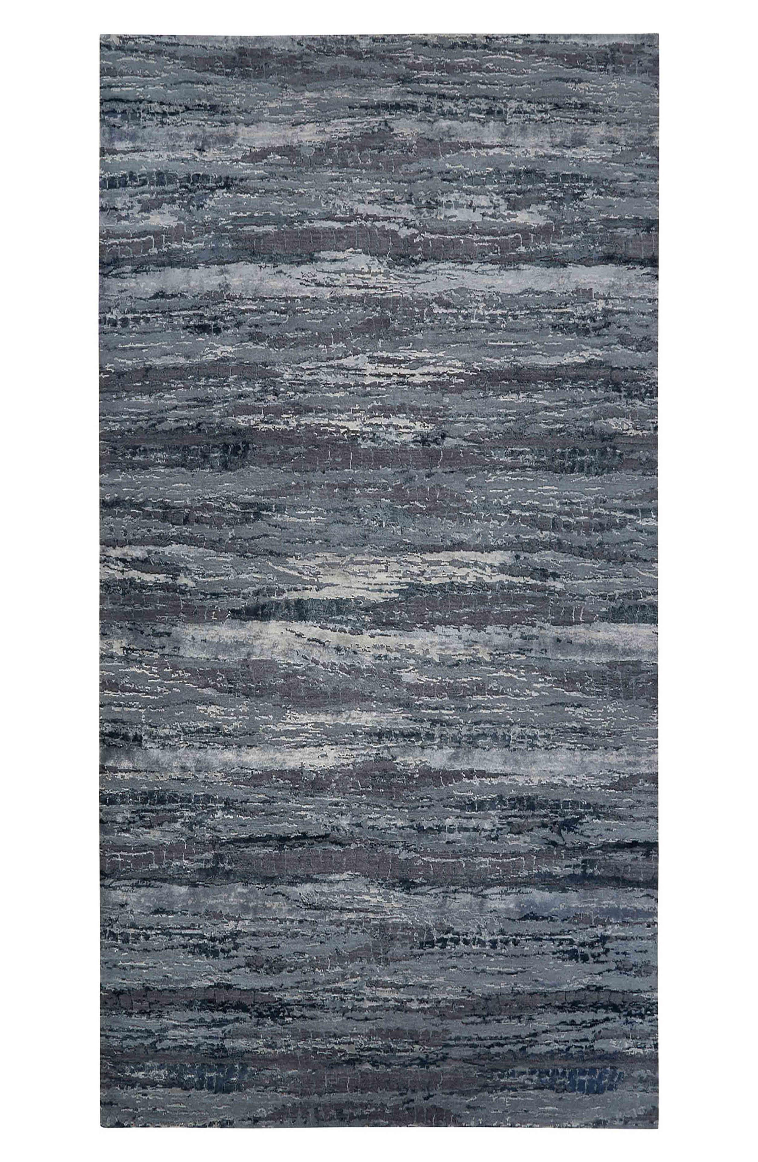 JAIPUR,                             'Chaos Theory' Stripe Rug,                             Main thumbnail 1, color,                             DARK GRAY