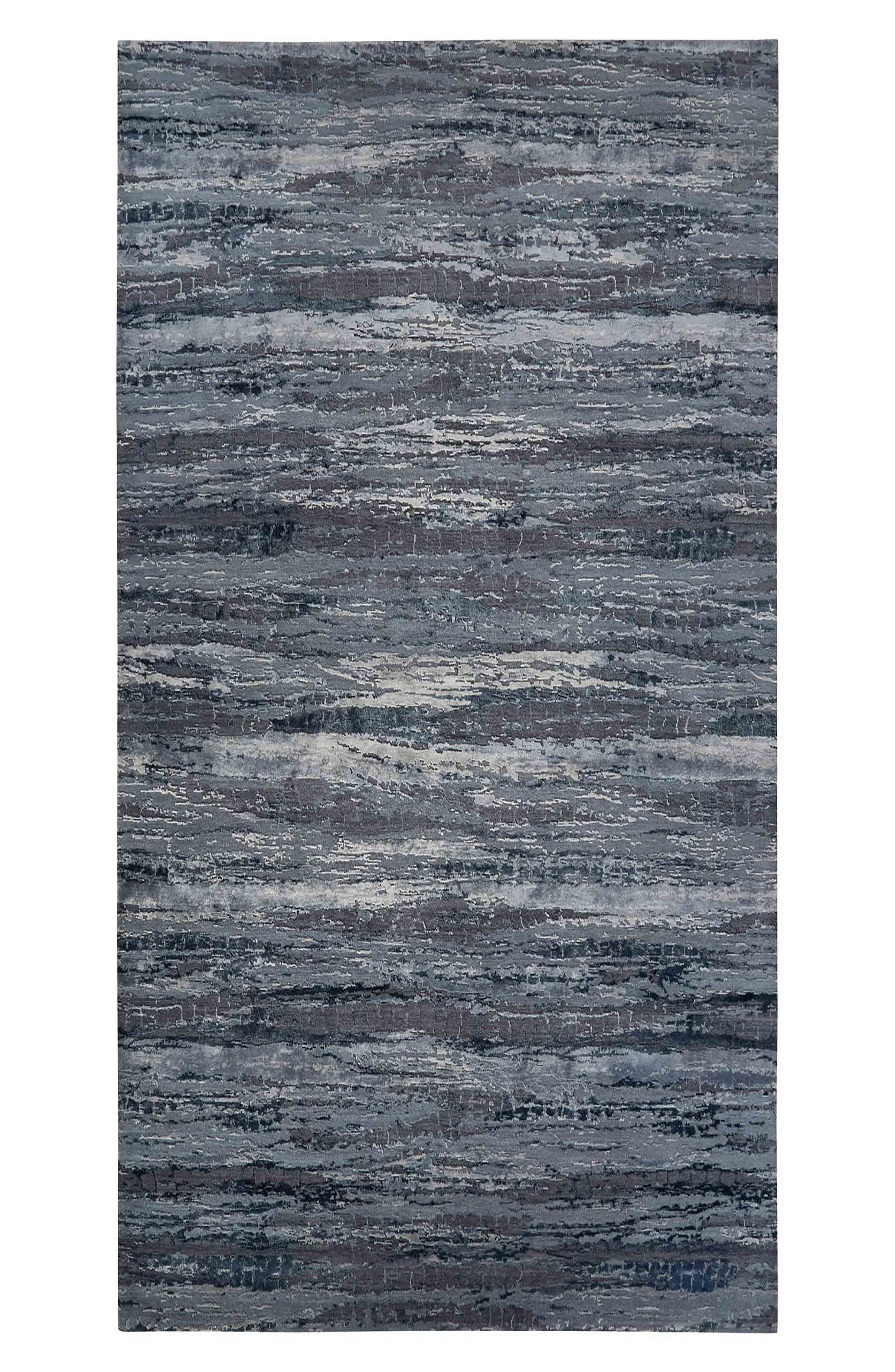 JAIPUR 'Chaos Theory' Stripe Rug, Main, color, DARK GRAY