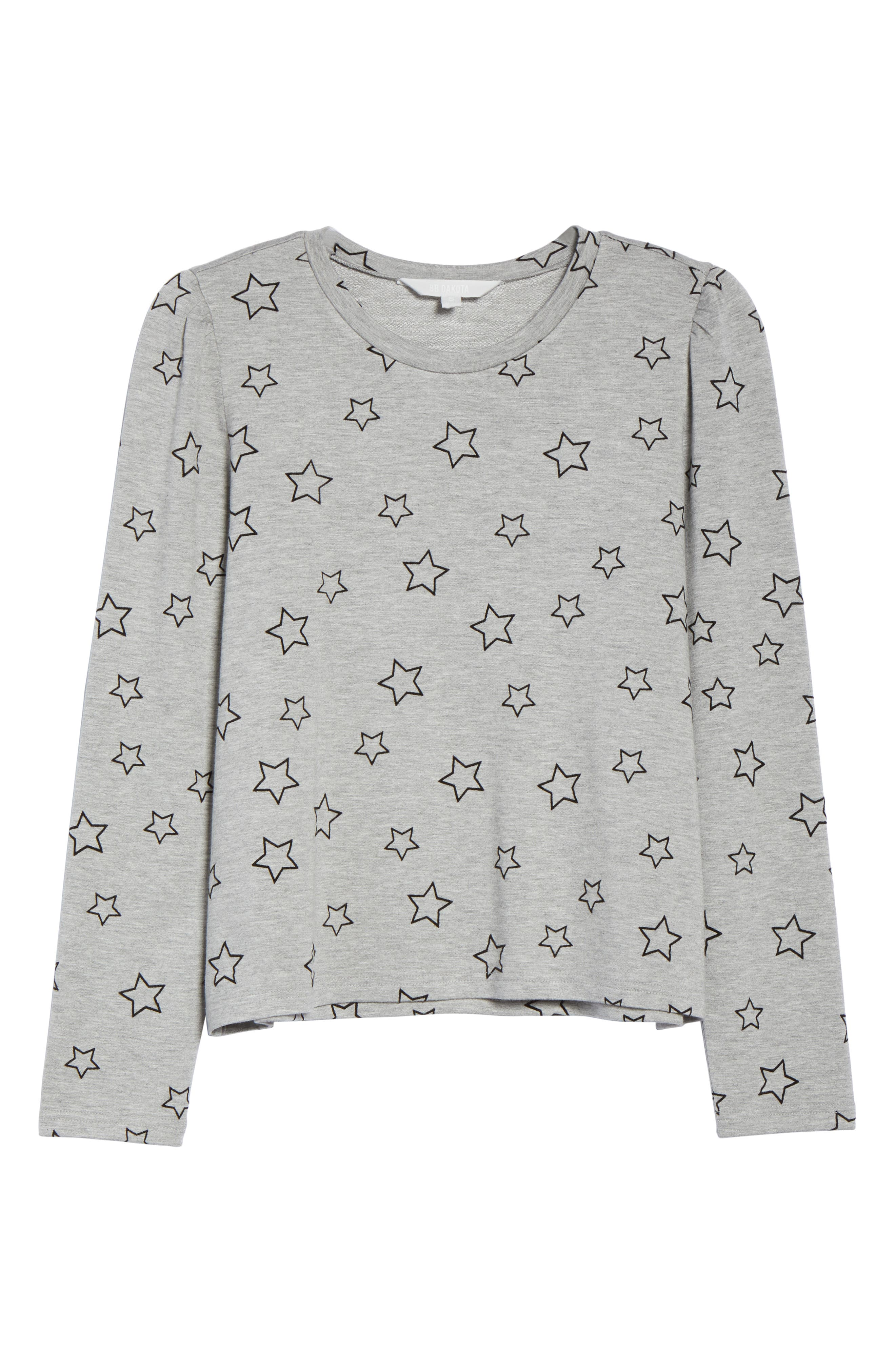 Seeing Stars Top,                             Alternate thumbnail 6, color,                             HEATHER GREY