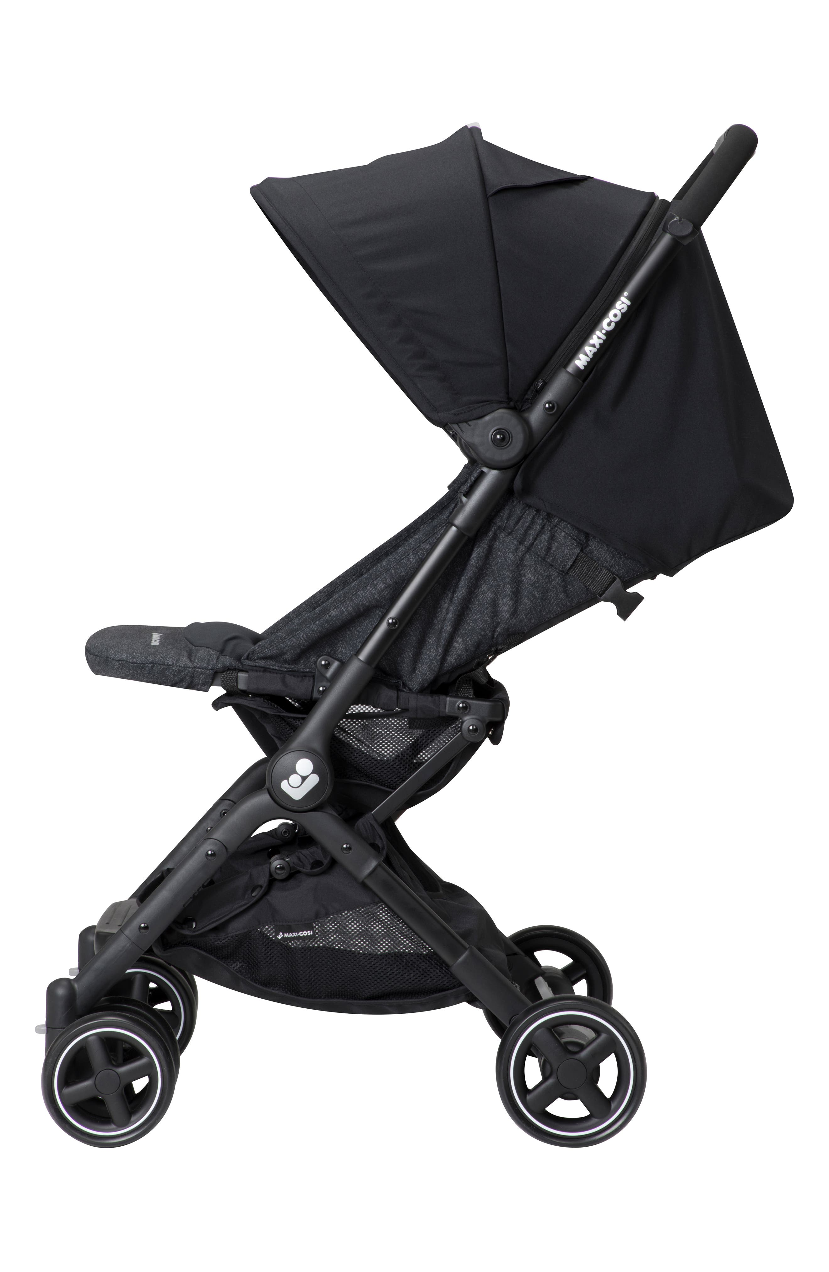 Lara Ultra Compact Stroller,                             Alternate thumbnail 6, color,                             NOMAD BLACK