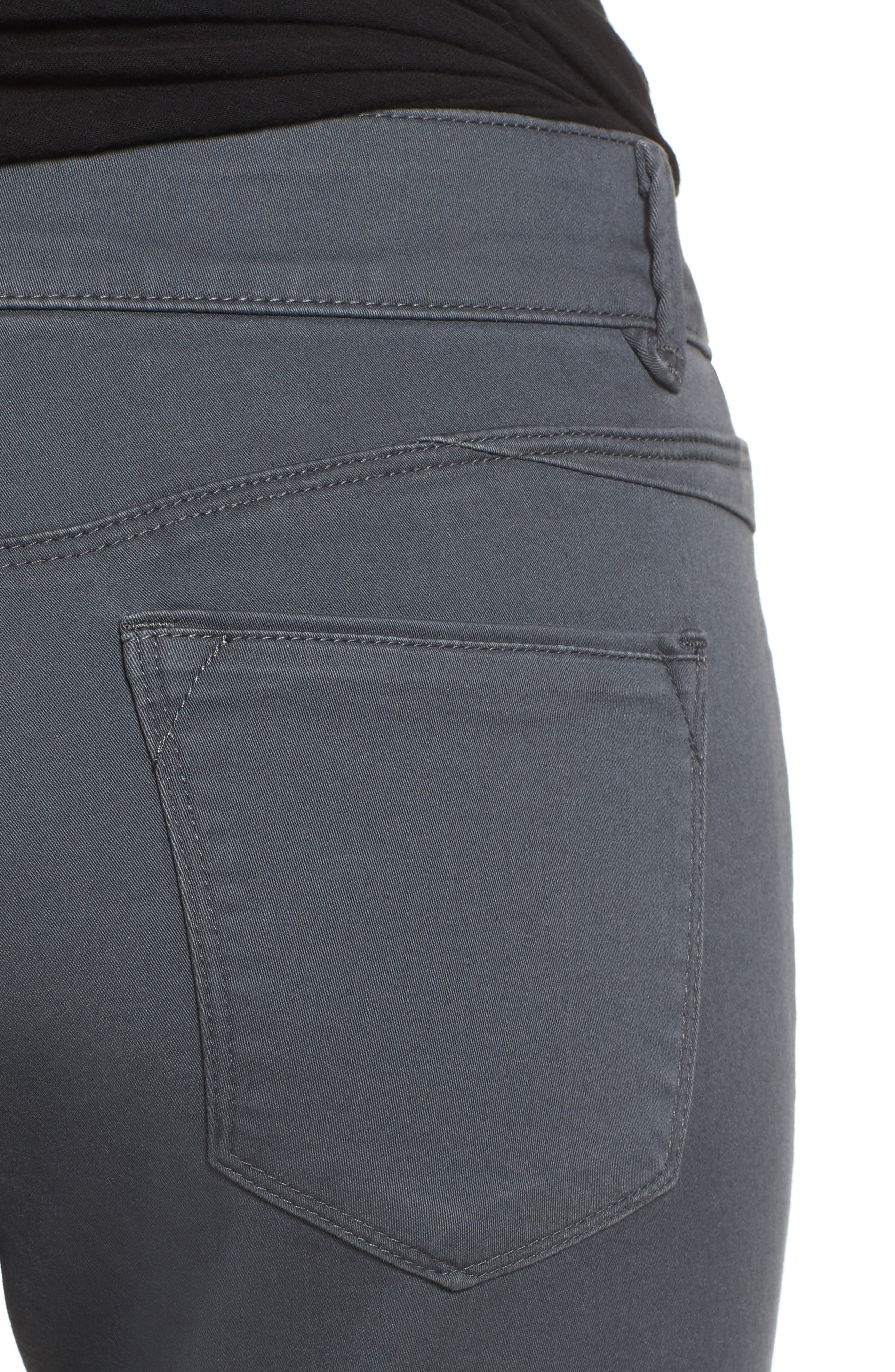 Ab-solution Stretch Twill Skinny Pants,                             Alternate thumbnail 4, color,                             050