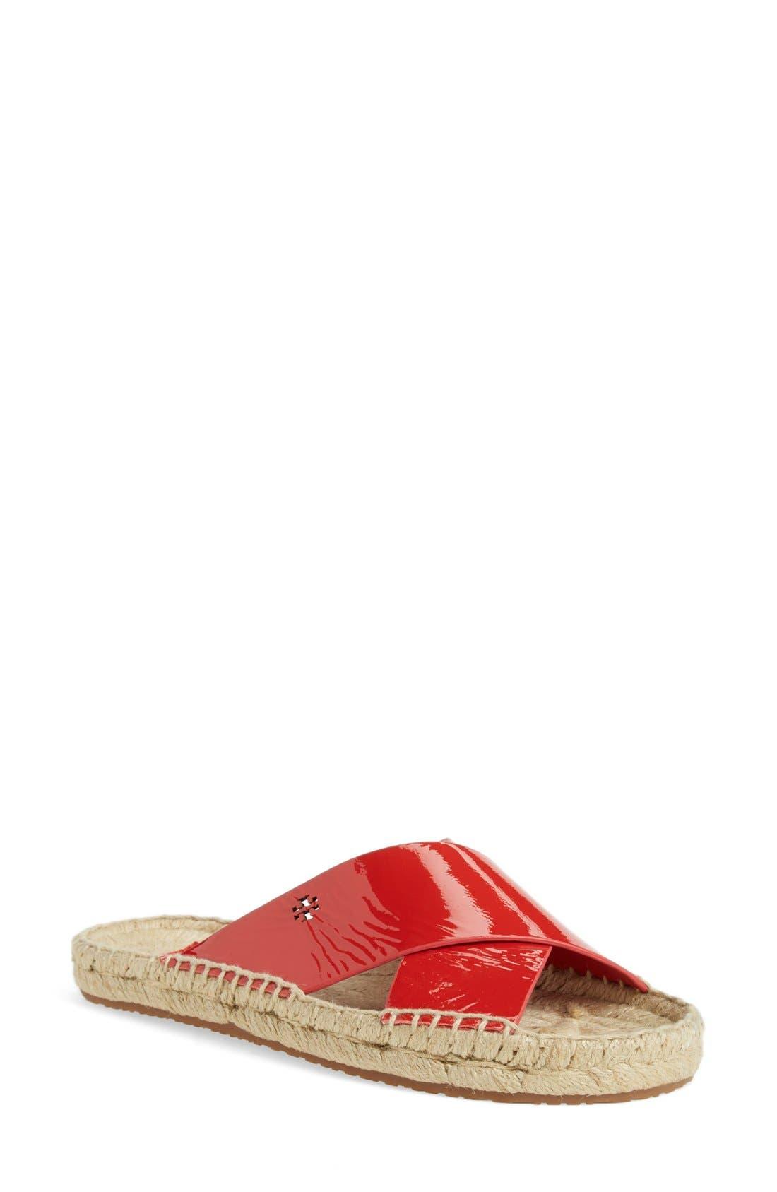 TORY BURCH 'Bima' Espadrille Slide Sandal, Main, color, 601