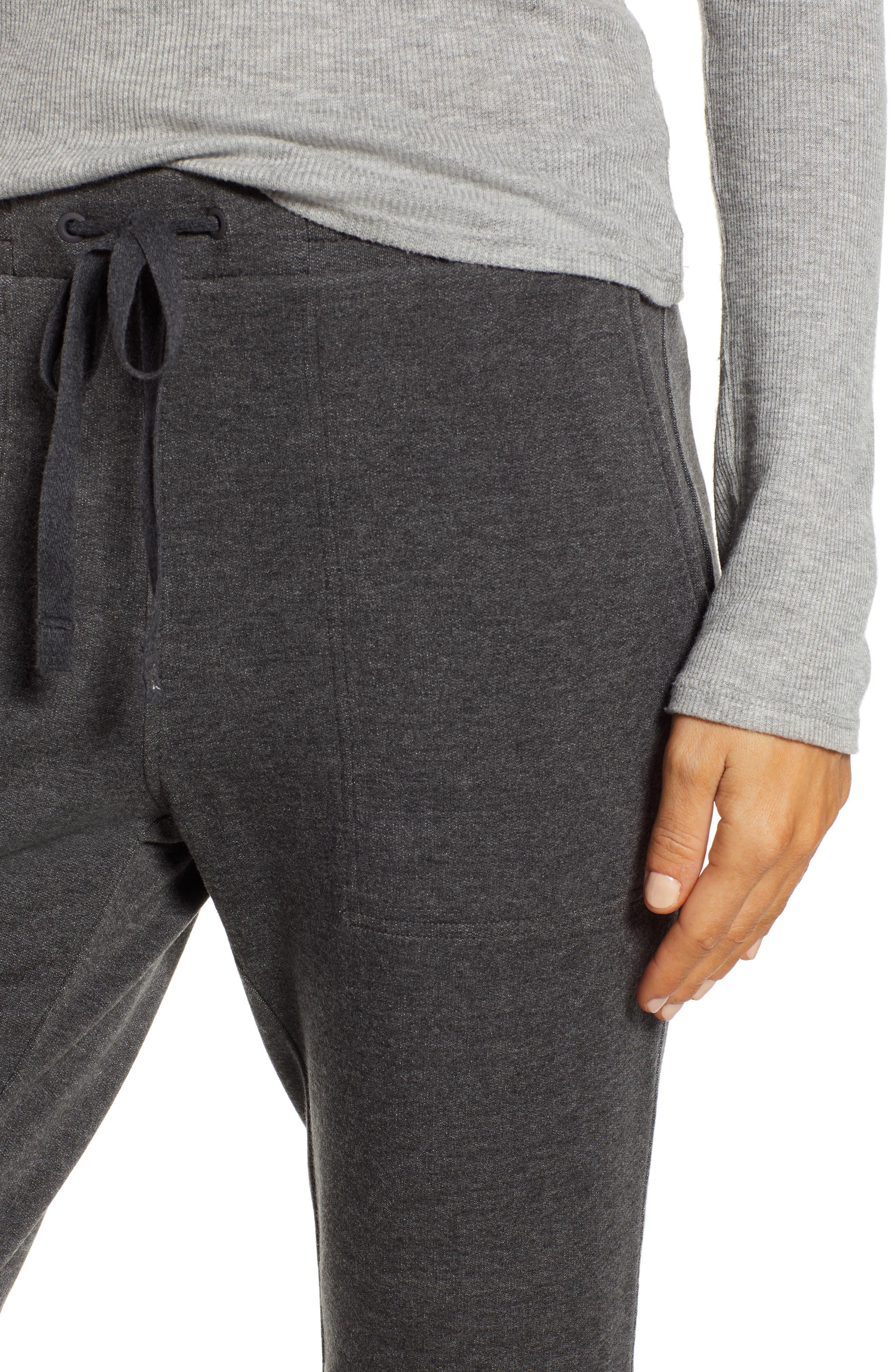 Zen Bounce Upstate Sweatpants,                             Alternate thumbnail 4, color,                             CHARCOAL