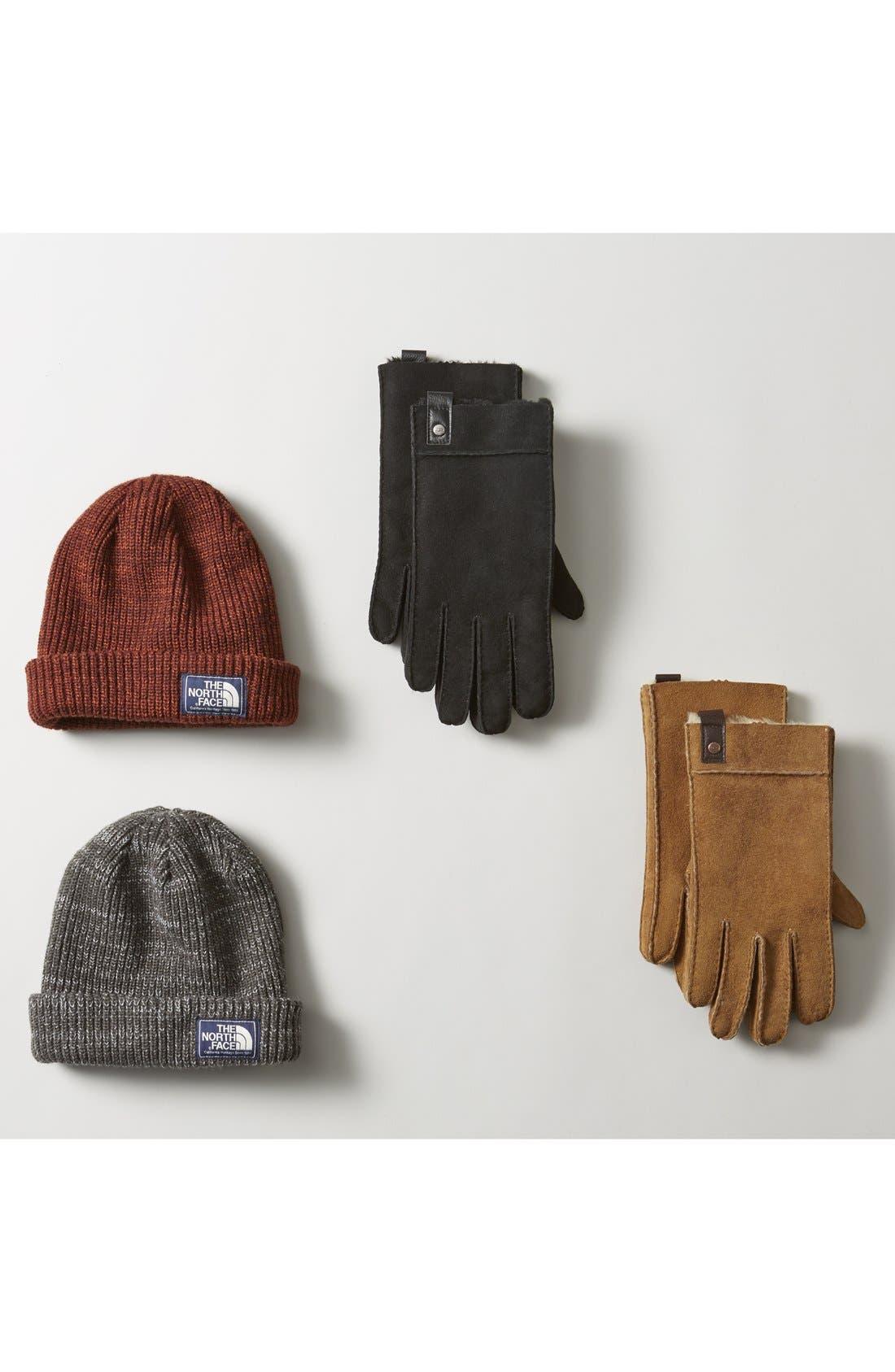 Genuine Shearling Gloves,                             Alternate thumbnail 3, color,                             001