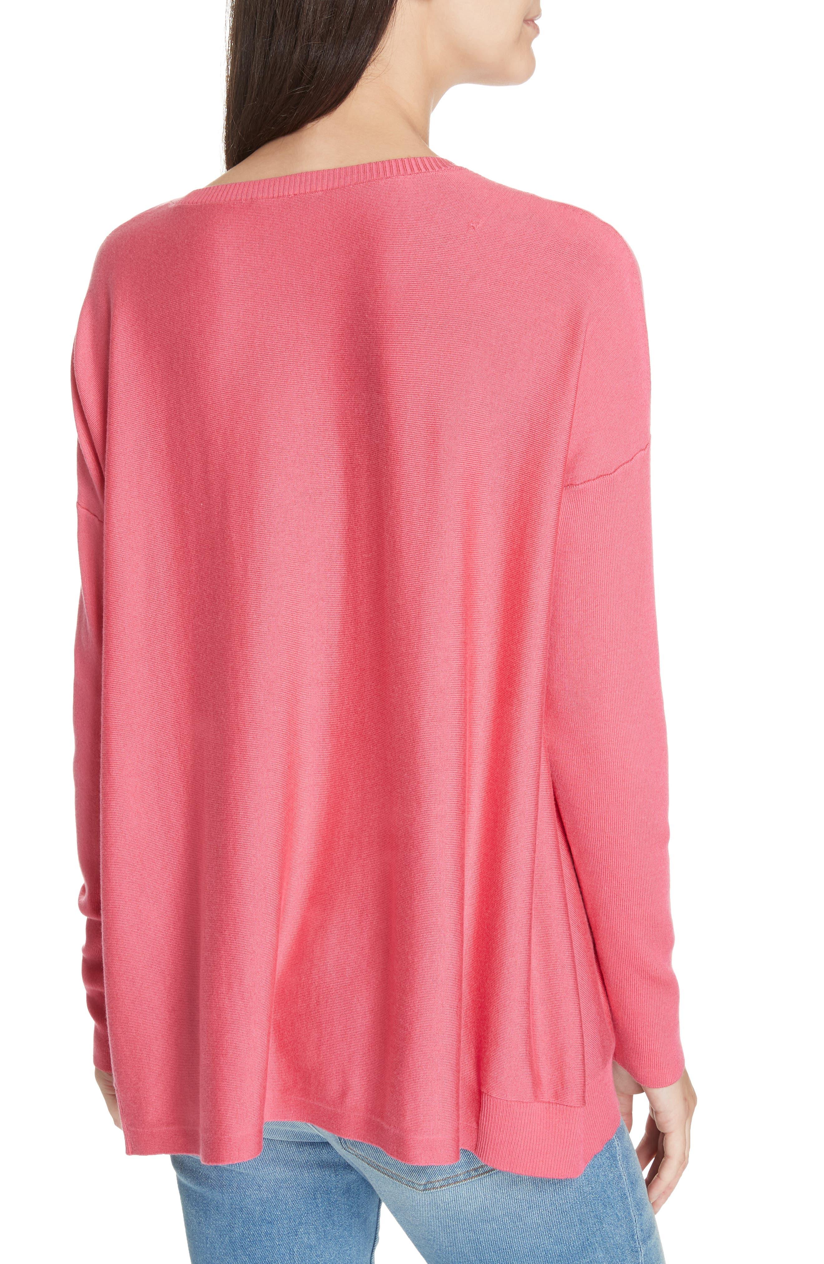 Tencel<sup>®</sup> Lyocell Blend Sweater,                             Alternate thumbnail 2, color,                             CHERRY LANE