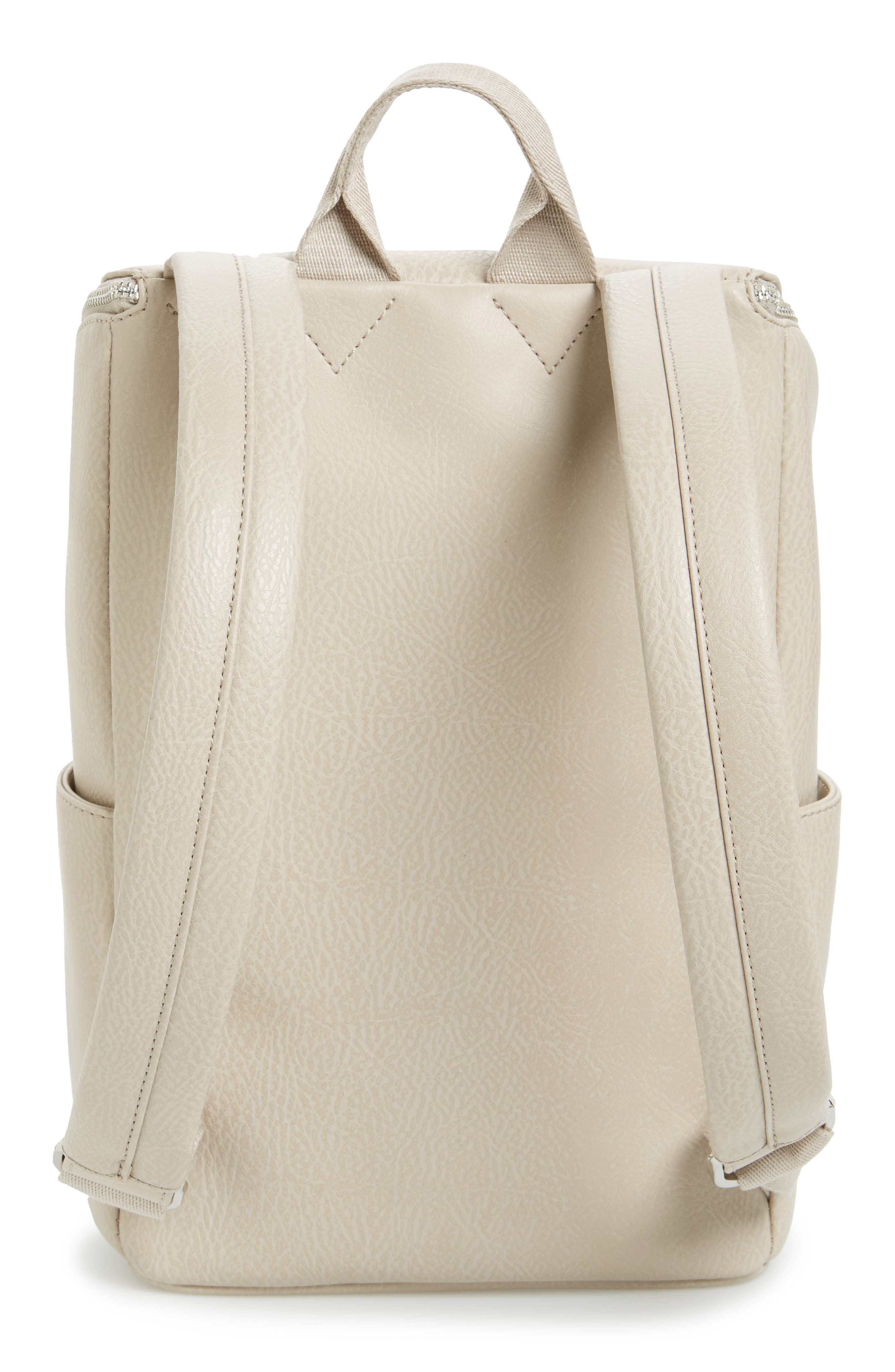 'Brave' Faux Leather Backpack,                             Alternate thumbnail 44, color,