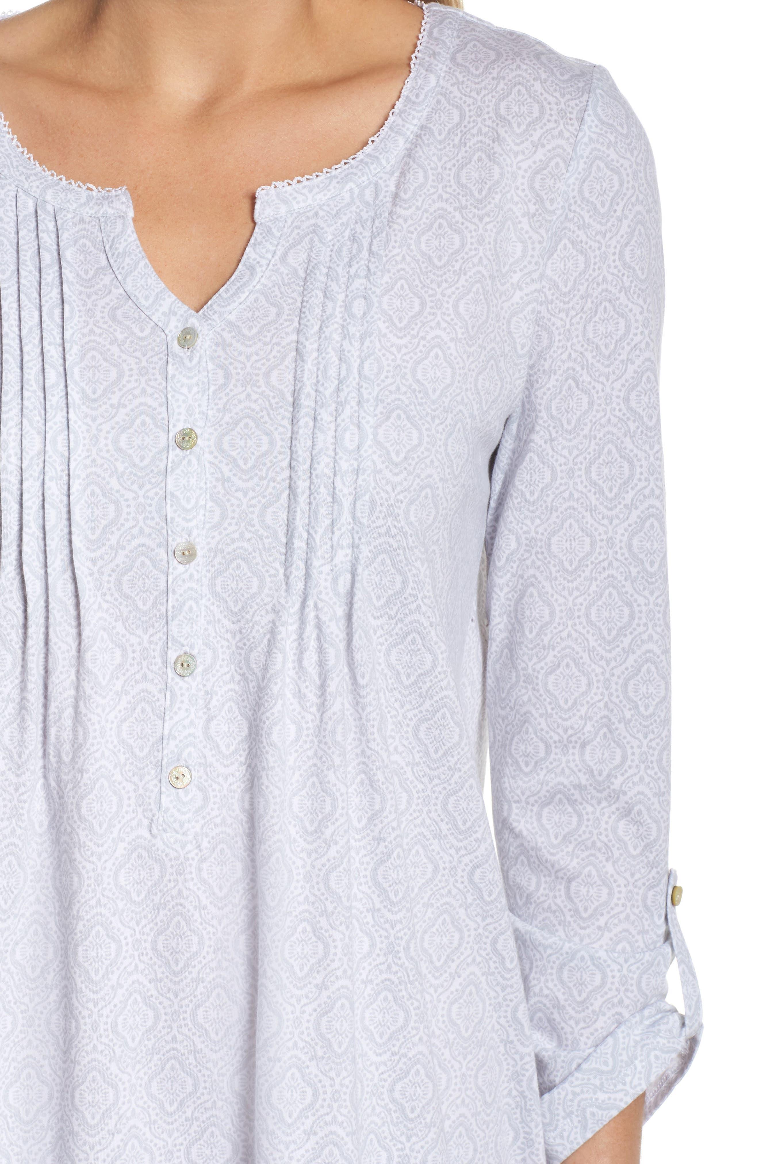 Cotton Jersey Waltz Nightgown,                             Alternate thumbnail 4, color,
