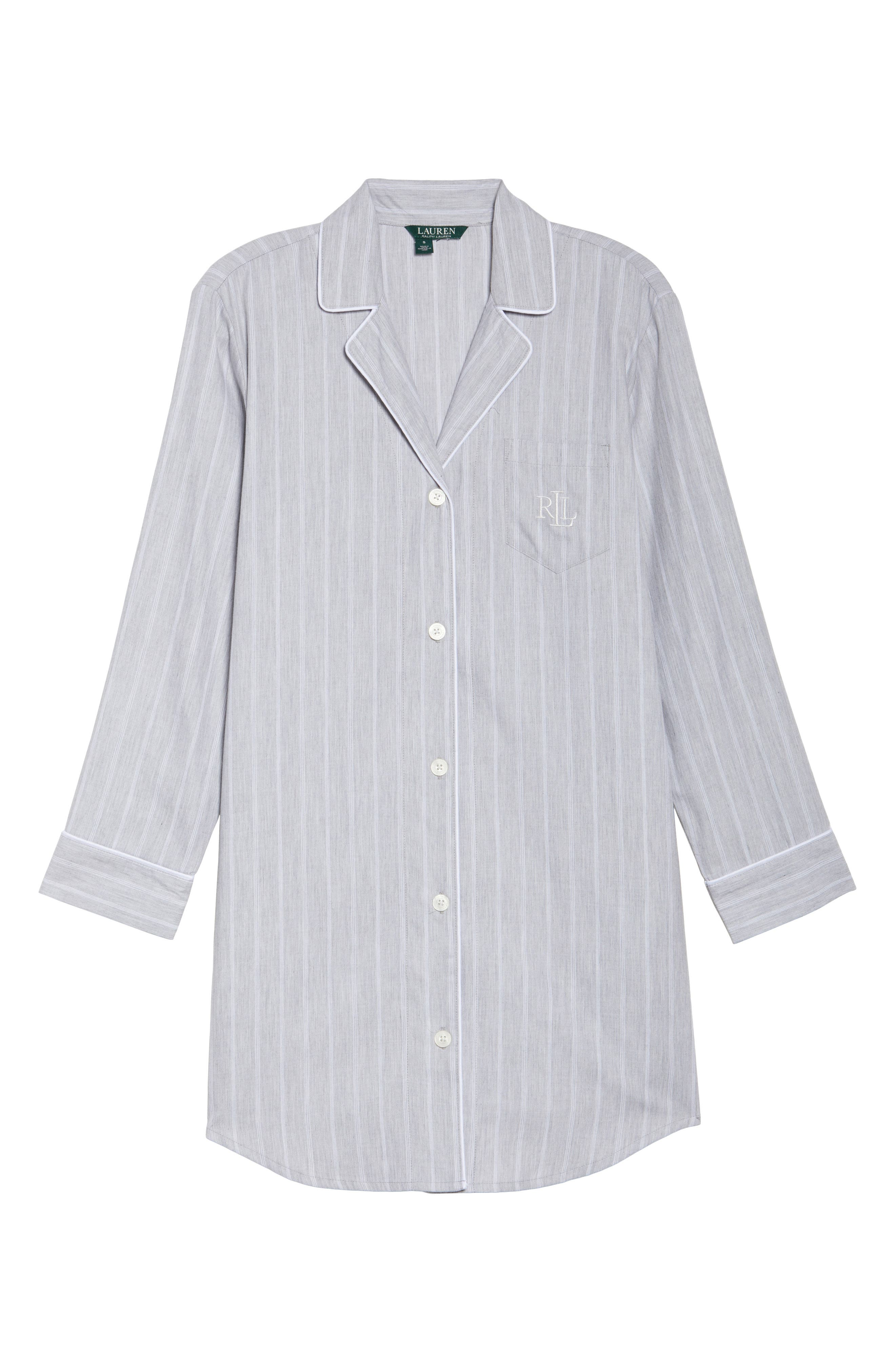 Notch Collar Sleep Shirt,                             Alternate thumbnail 6, color,                             060