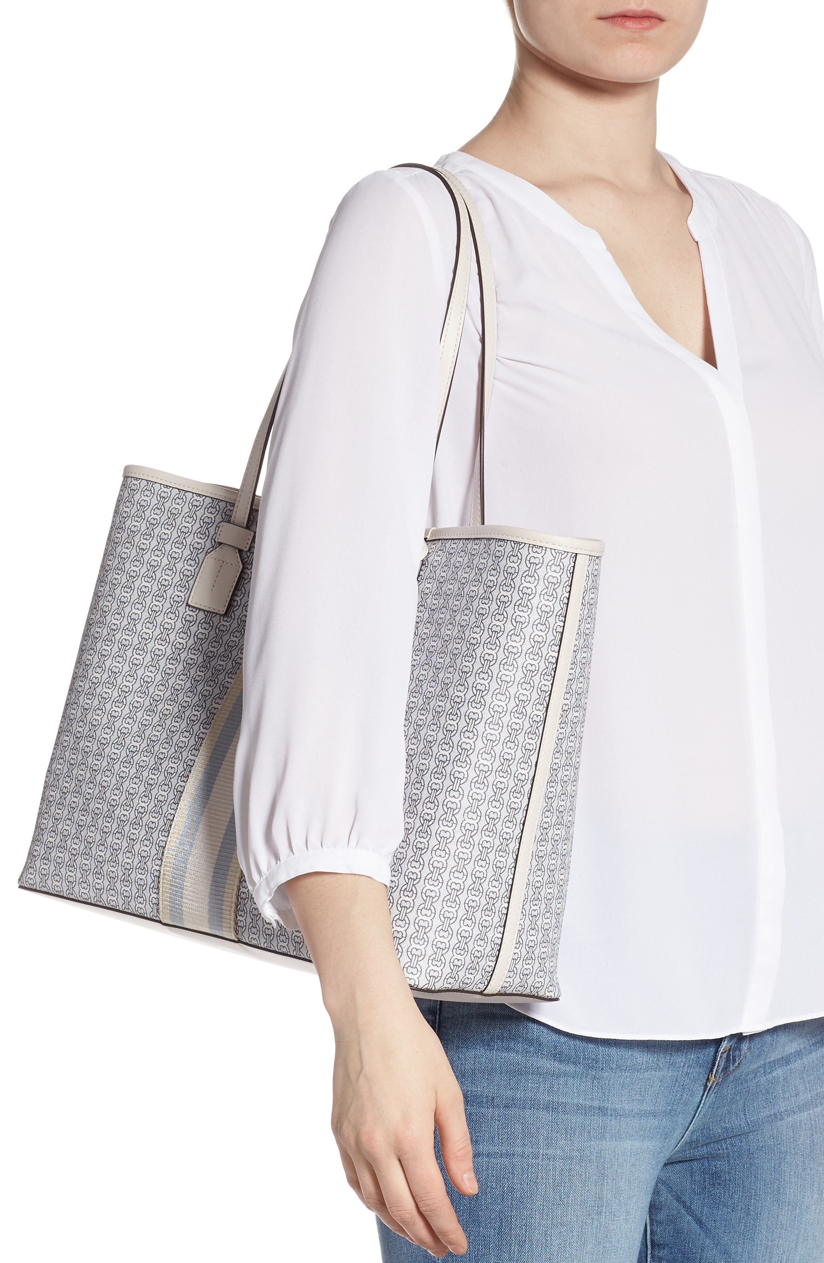 Gemini Link Coated Canvas Tote,                             Alternate thumbnail 2, color,                             NEW IVORY