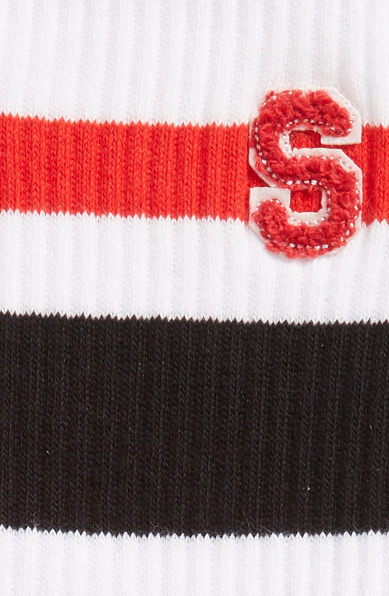 JV Crew Socks,                             Alternate thumbnail 2, color,                             WHITE