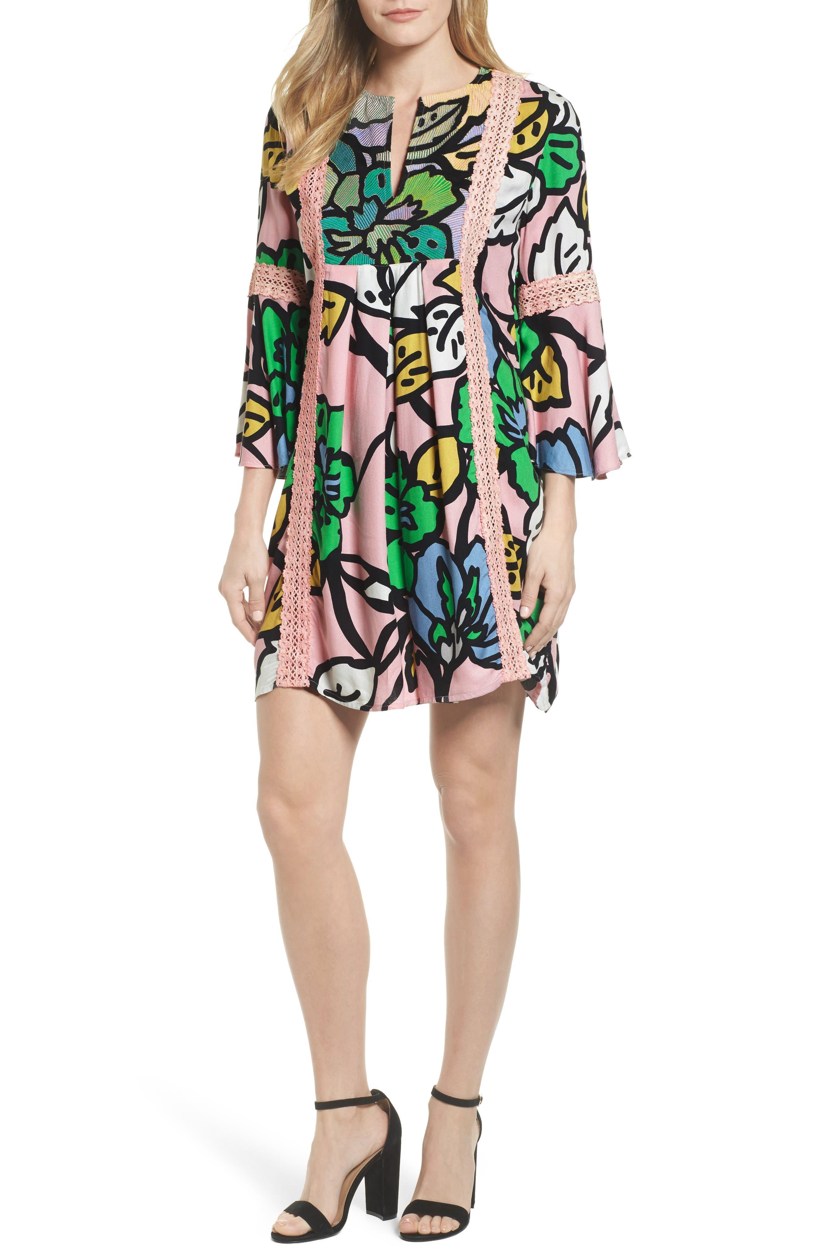 Ancona Mod Print Shift Dress,                             Main thumbnail 1, color,