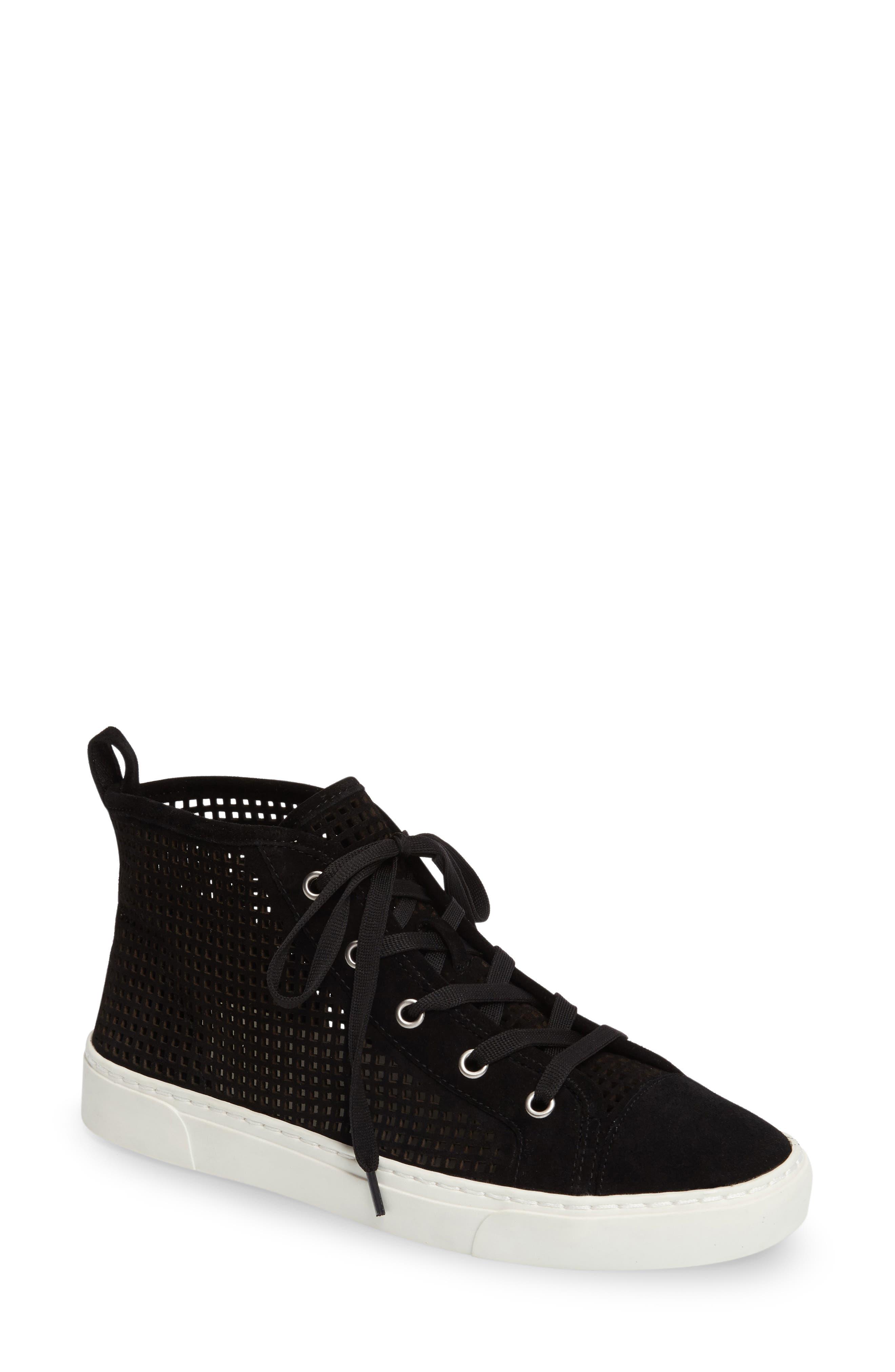 Dulcia Perforated High-Top Sneaker,                             Main thumbnail 1, color,                             001