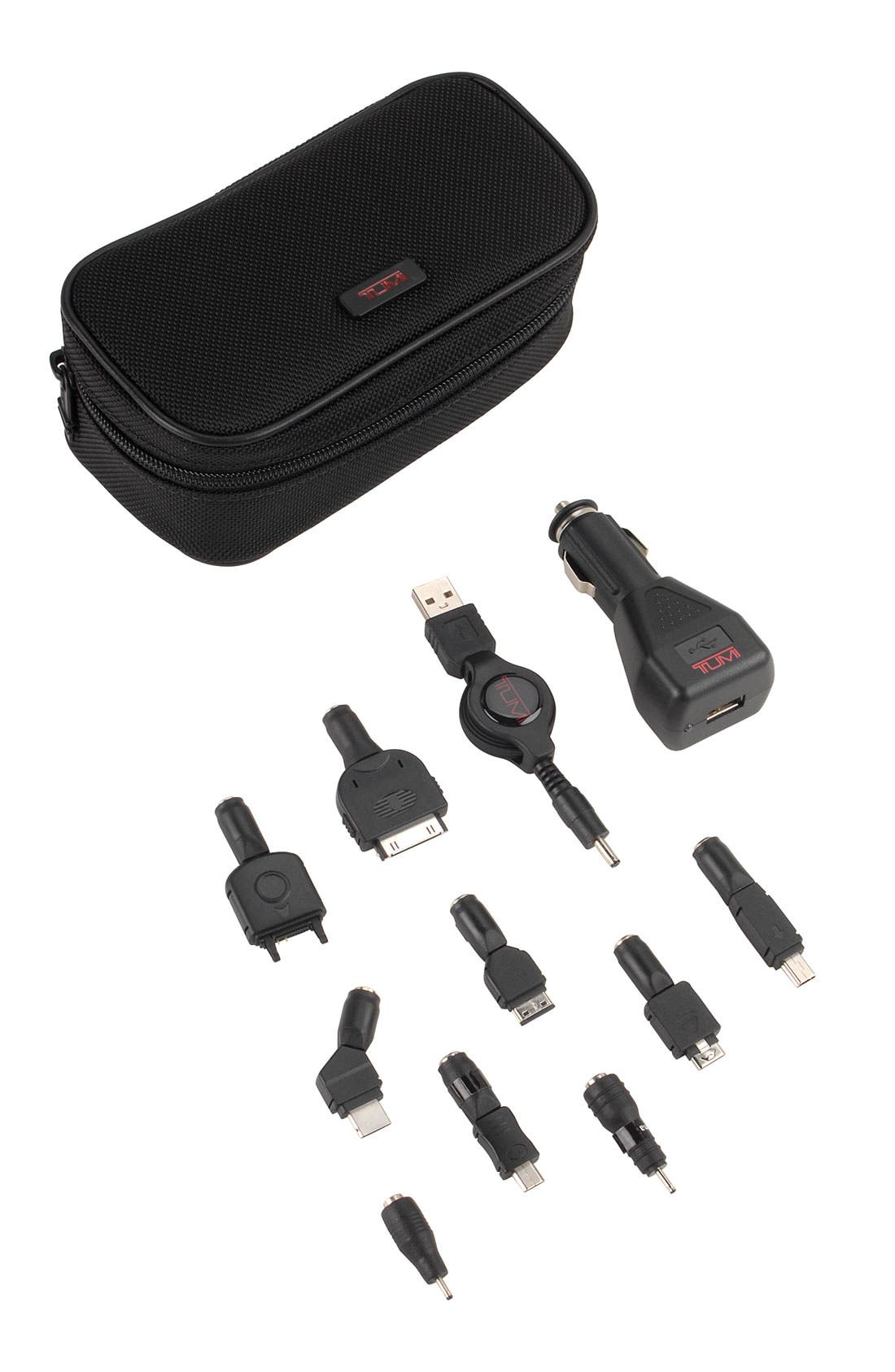 USB Cell Phone Charger Kit with Case,                             Alternate thumbnail 2, color,                             001