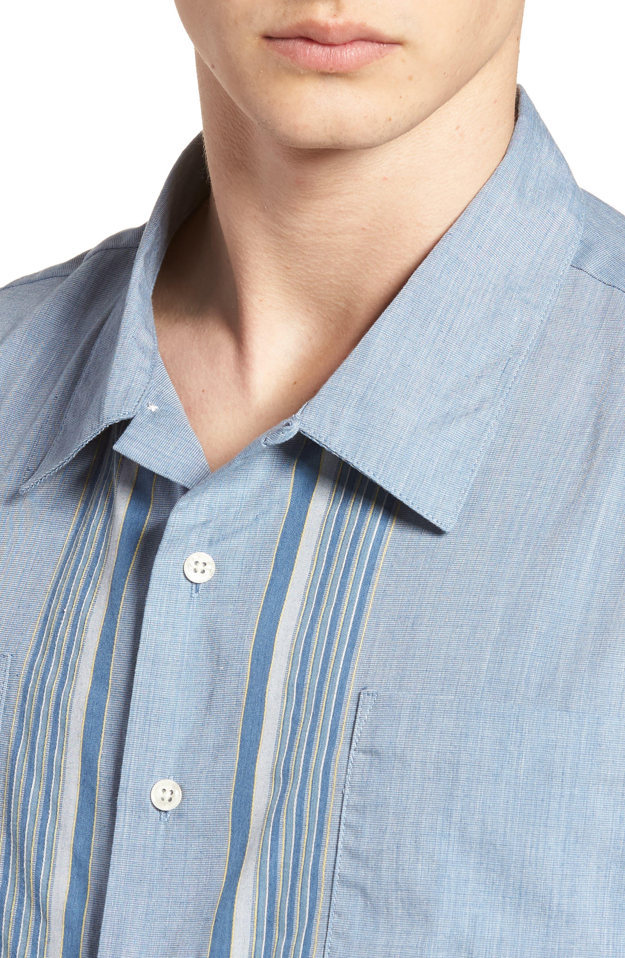 Cruze Woven Shirt,                             Alternate thumbnail 4, color,                             LIGHT BLUE