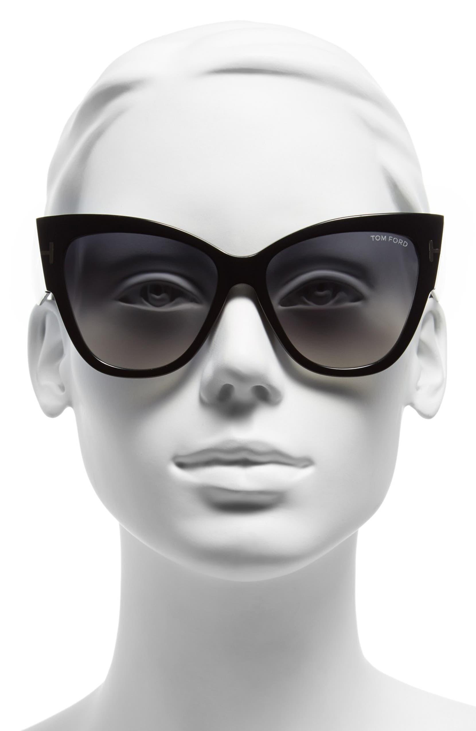 777e545f1fa Tom Ford Anoushka 57mm Gradient Cat Eye Sunglasses