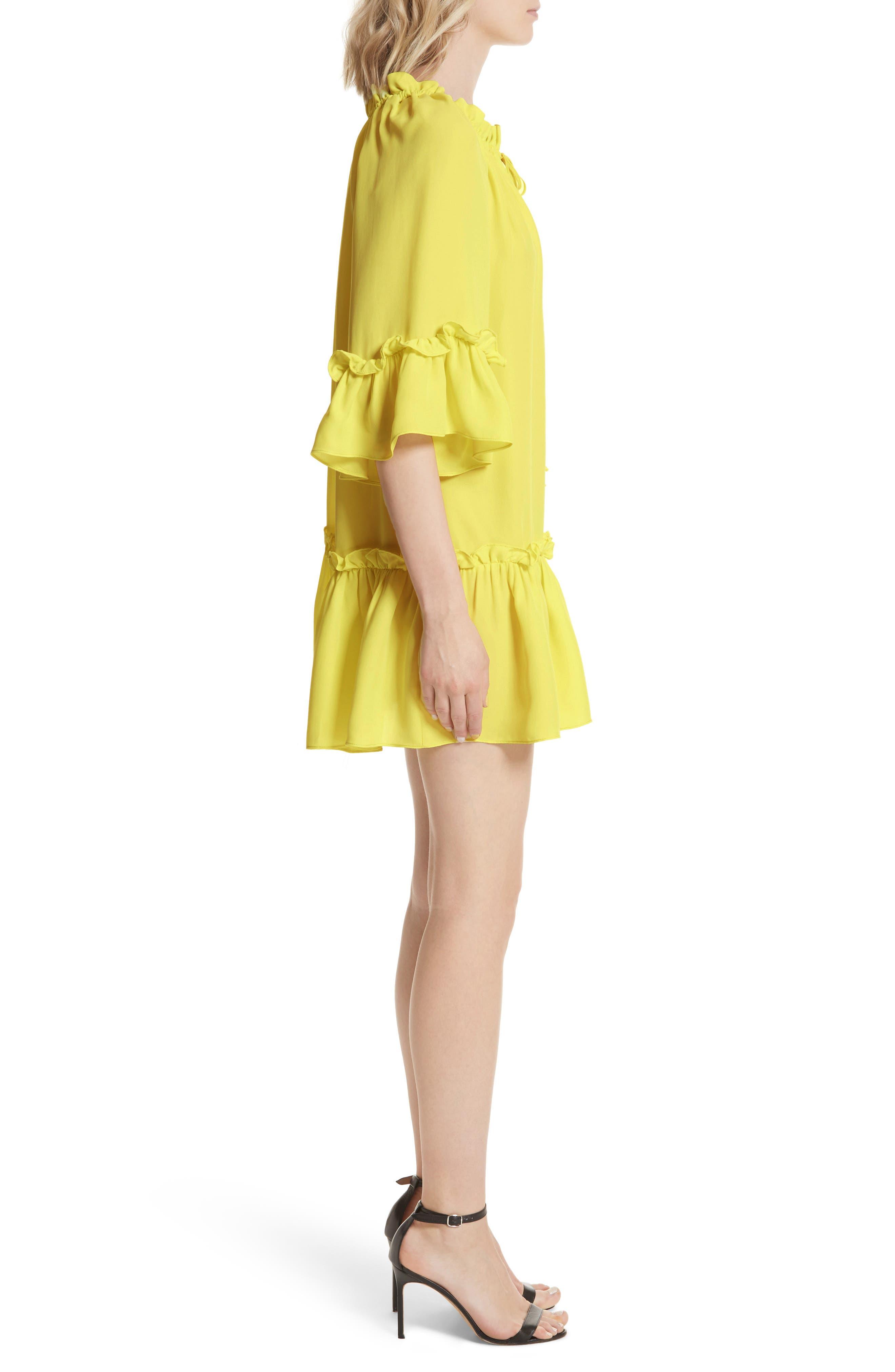 Santorini Ruffle Mini Dress,                             Alternate thumbnail 3, color,                             750