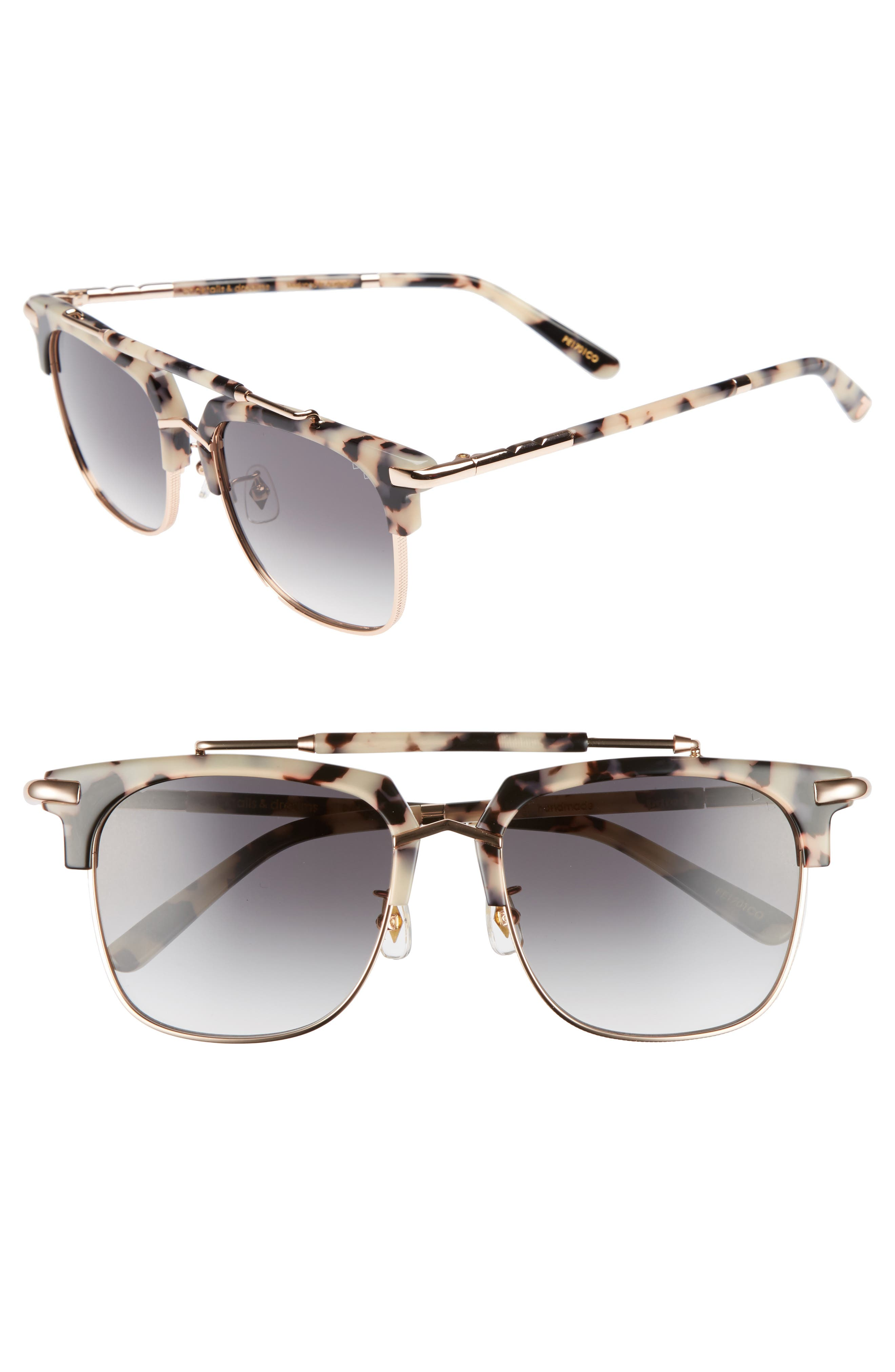 Cocktails & Dreams 53mm Sunglasses,                         Main,                         color, COOKIES/ CREAM/ ROSE GOLD GREY