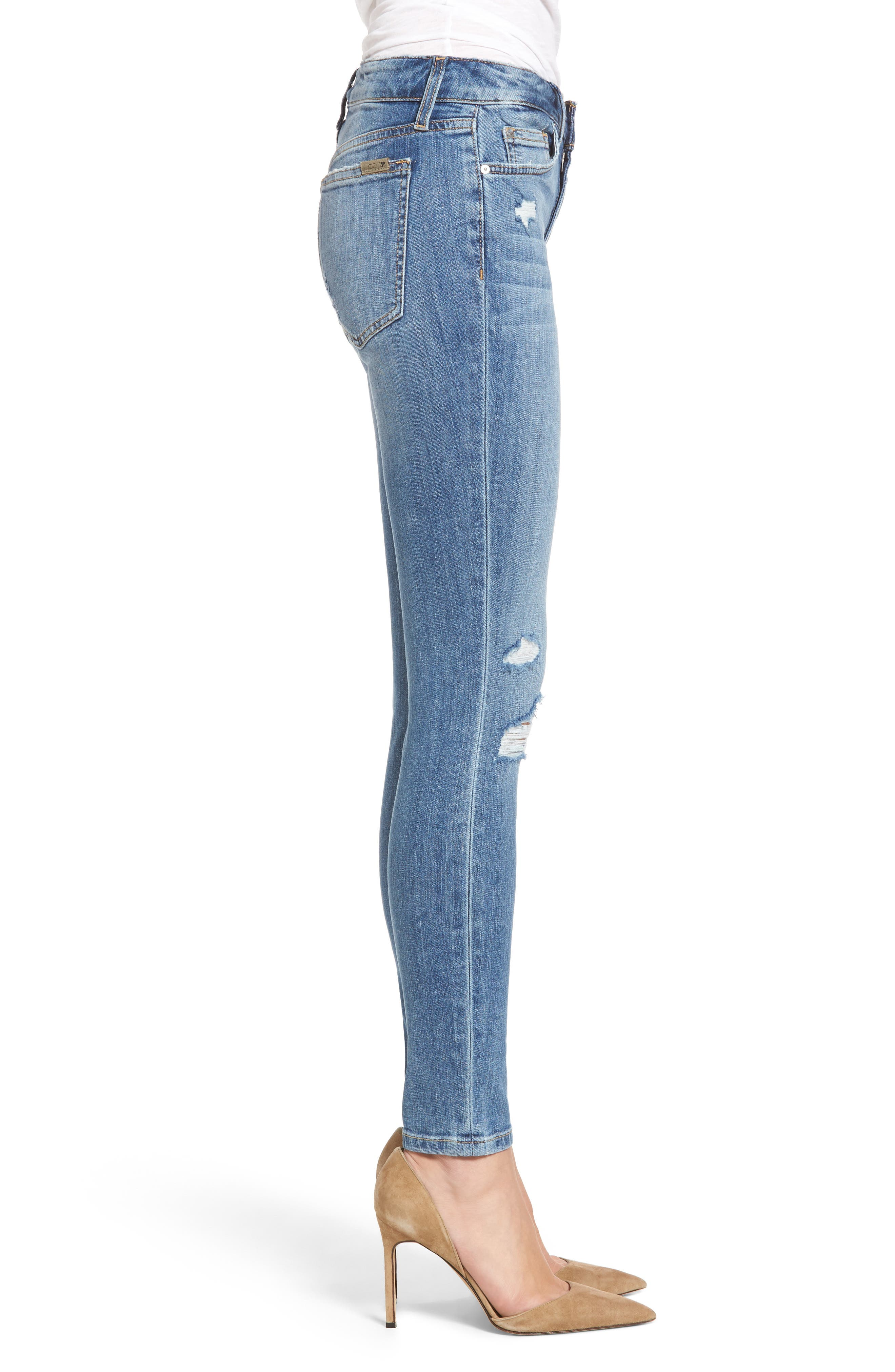 The Icon Skinny Ankle Jeans,                             Alternate thumbnail 3, color,                             412