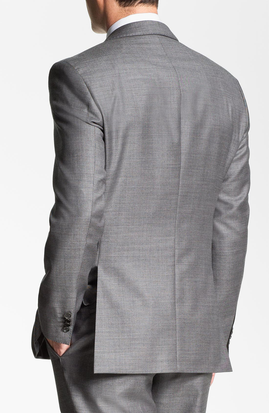 BOSS HUGO BOSS 'James/Sharp' Trim Fit Wool Suit,                             Alternate thumbnail 2, color,                             020