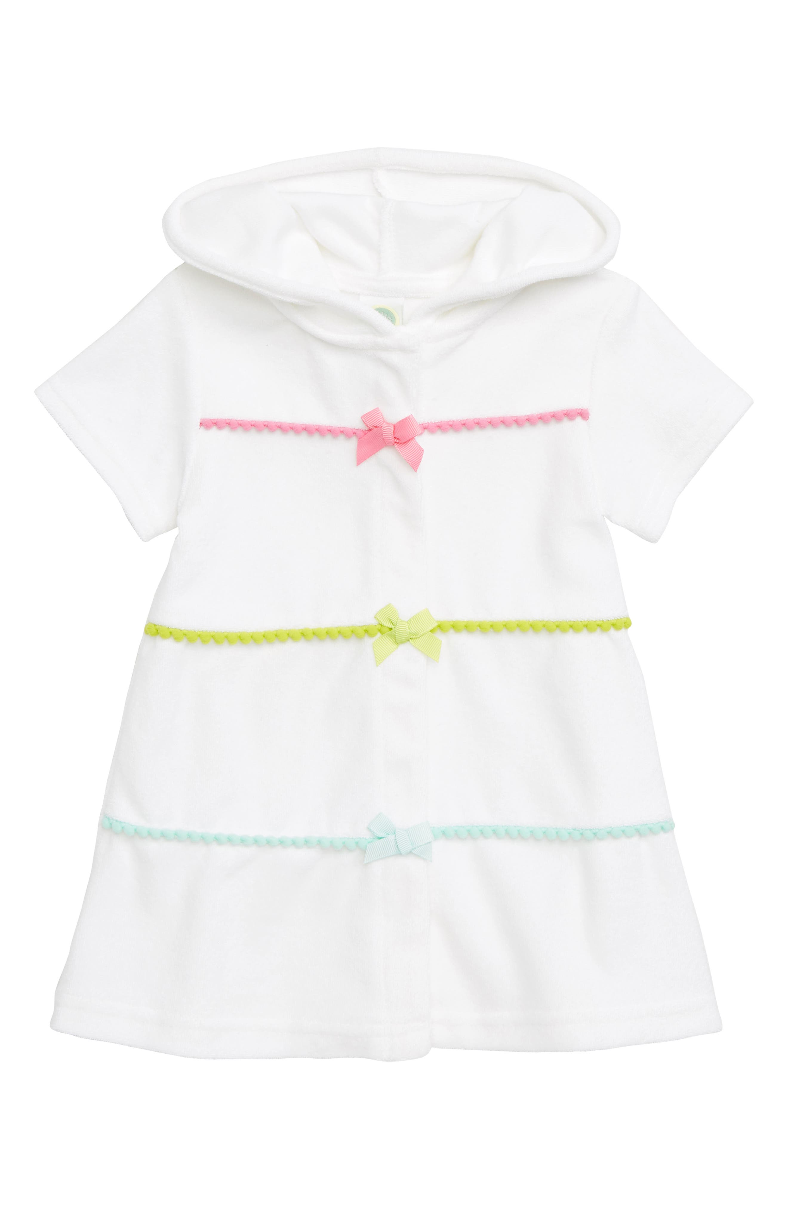 Hooded Cover-Up Dress,                             Main thumbnail 1, color,                             WHITE