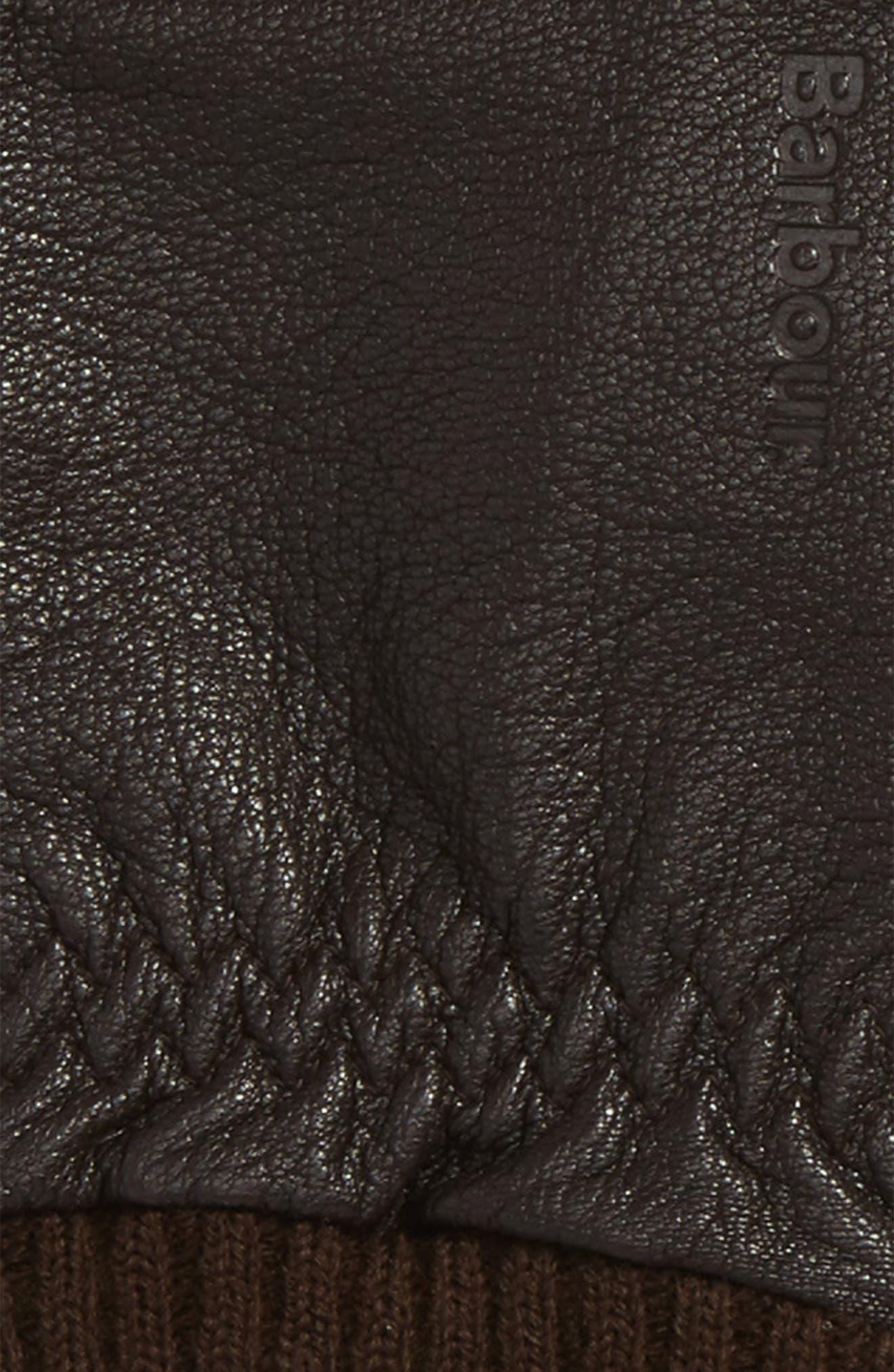 Barrow Leather Gloves,                             Alternate thumbnail 4, color,