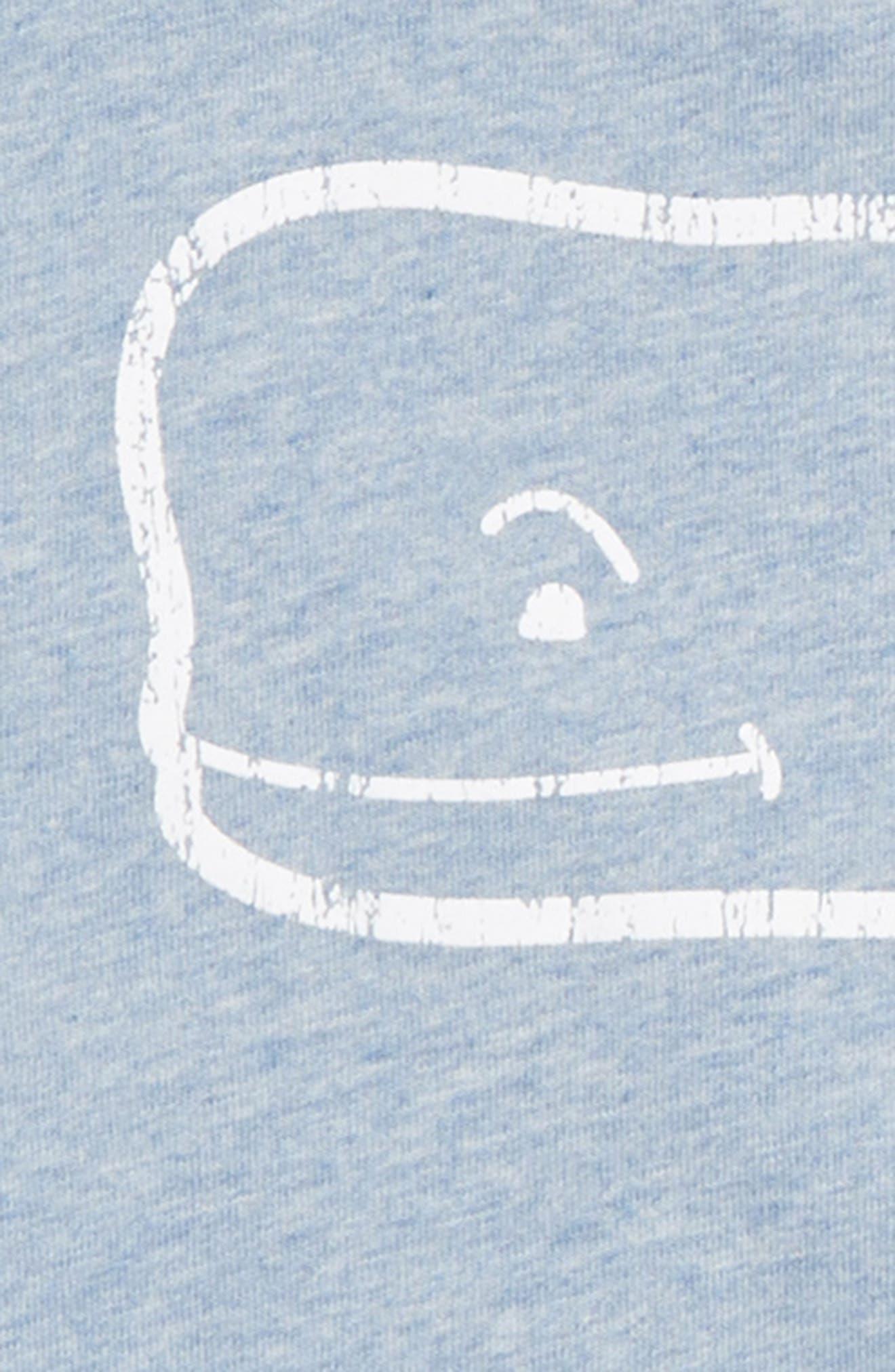 Heathered Vintage Whale Pocket T-Shirt,                             Alternate thumbnail 3, color,                             COASTLINE