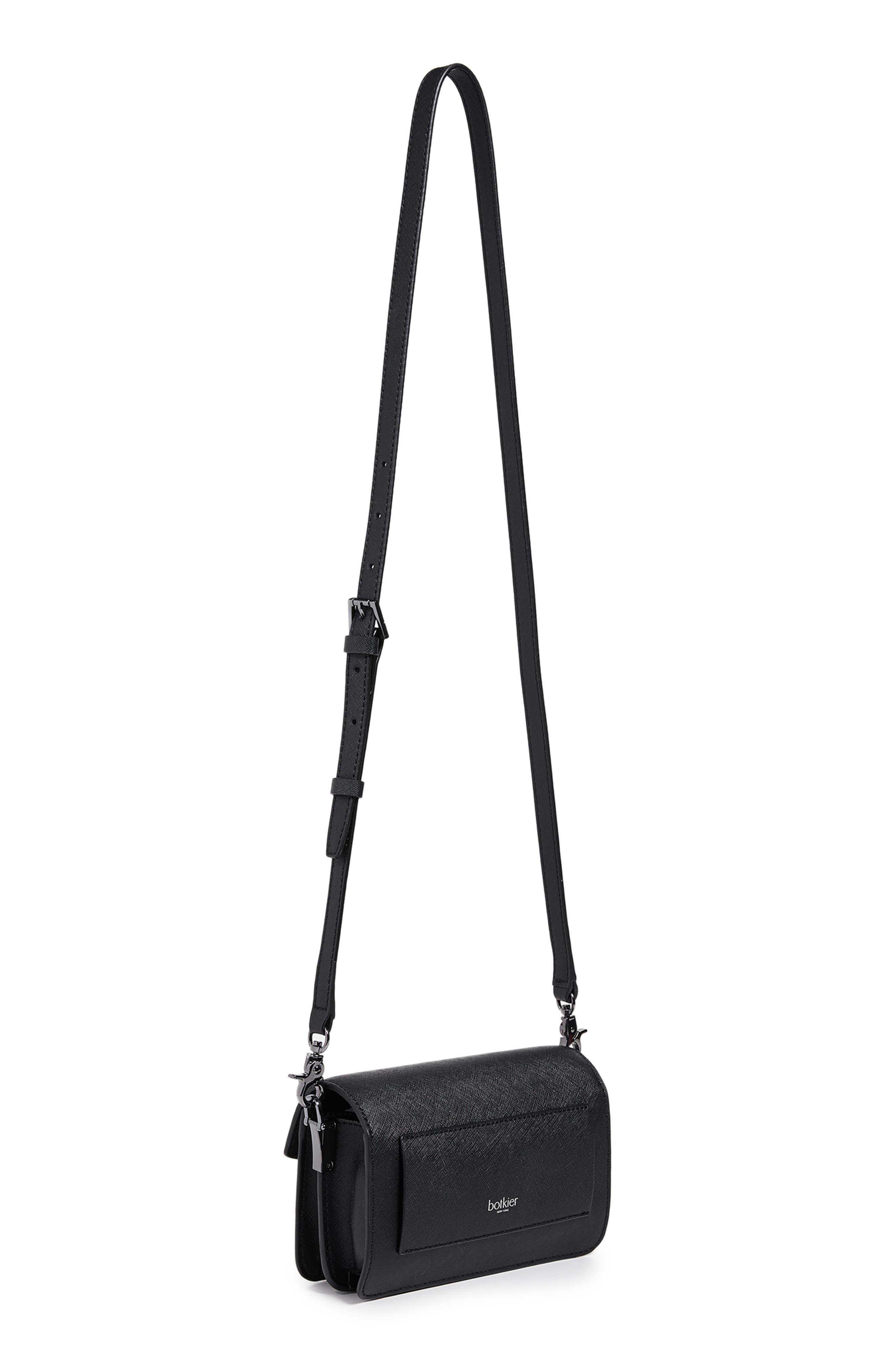 Cobble Hill Leather Convertible Belt Bag,                             Alternate thumbnail 4, color,                             BLACK