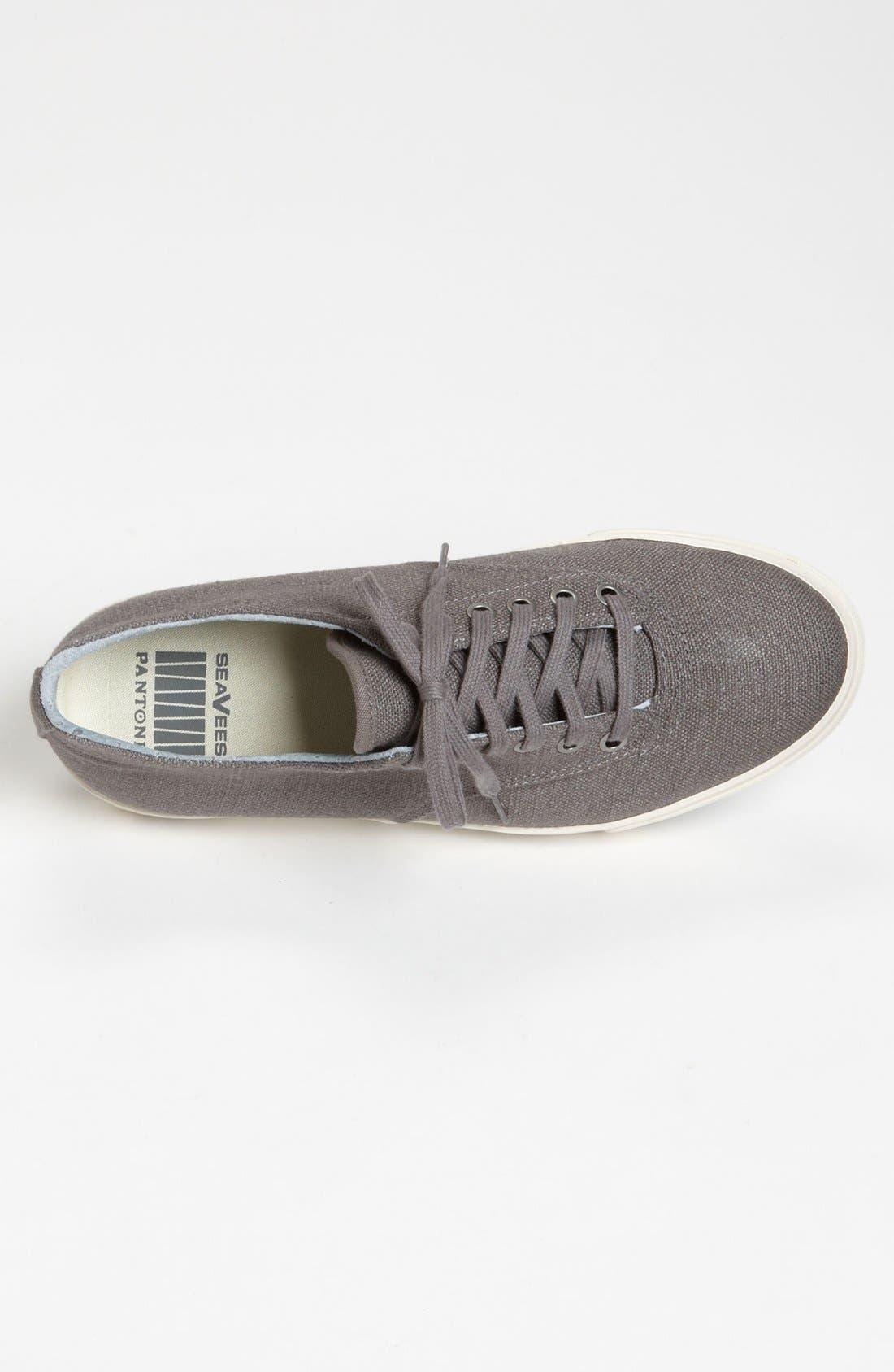 'Hermosa Plimsoll' Sneaker,                             Alternate thumbnail 7, color,                             TIN GREY VINTAGE WASH LINEN