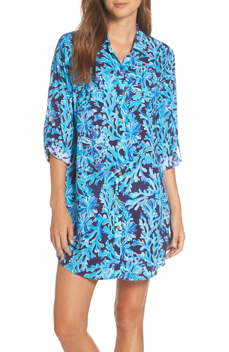 4d5cf7a6e8622 LILLY PULITZER SUP ®  SUP  Natalie Shirtdress Cover-Up