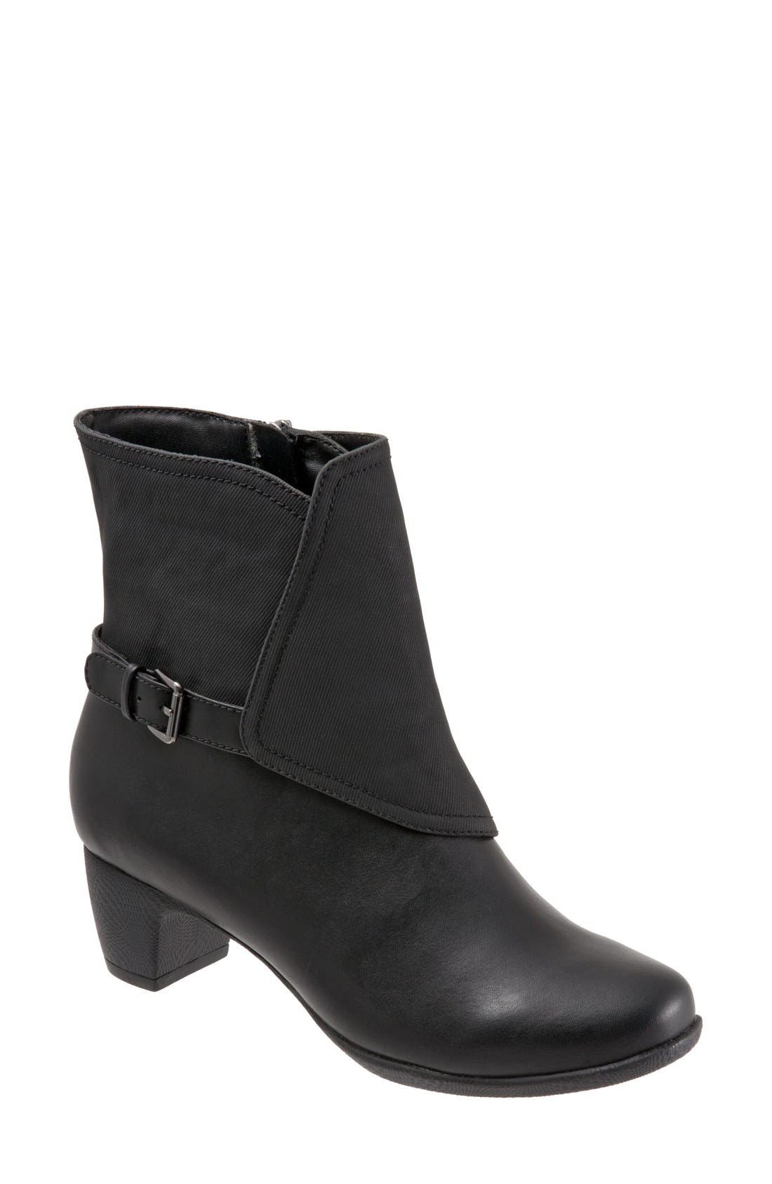 'Stormy' Waterproof Bootie,                             Main thumbnail 1, color,                             001