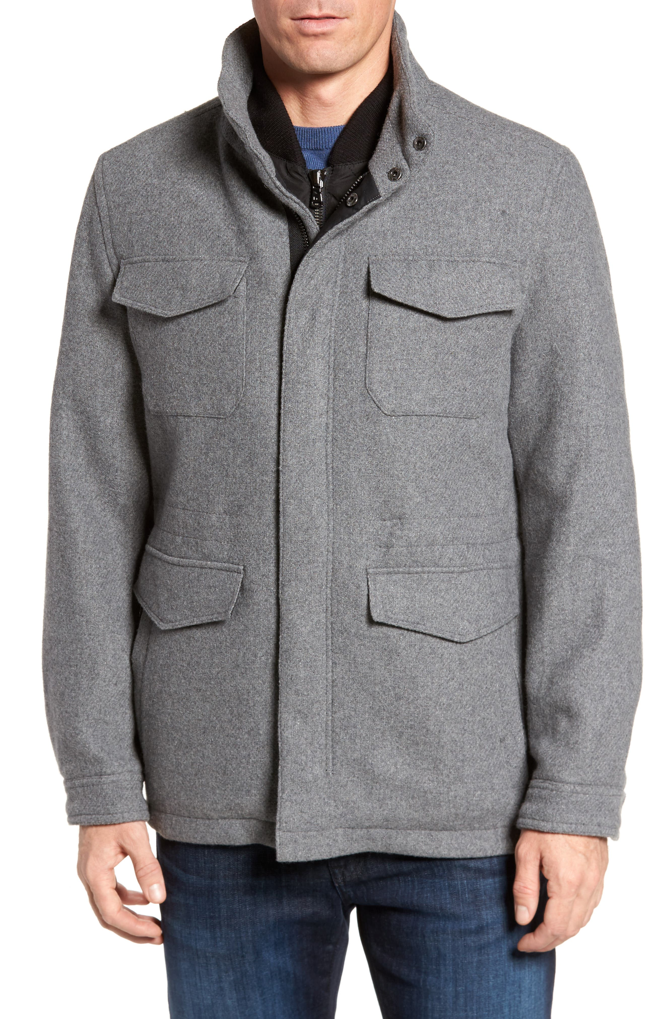 Regular Fit Double Layer Field Jacket,                             Alternate thumbnail 14, color,