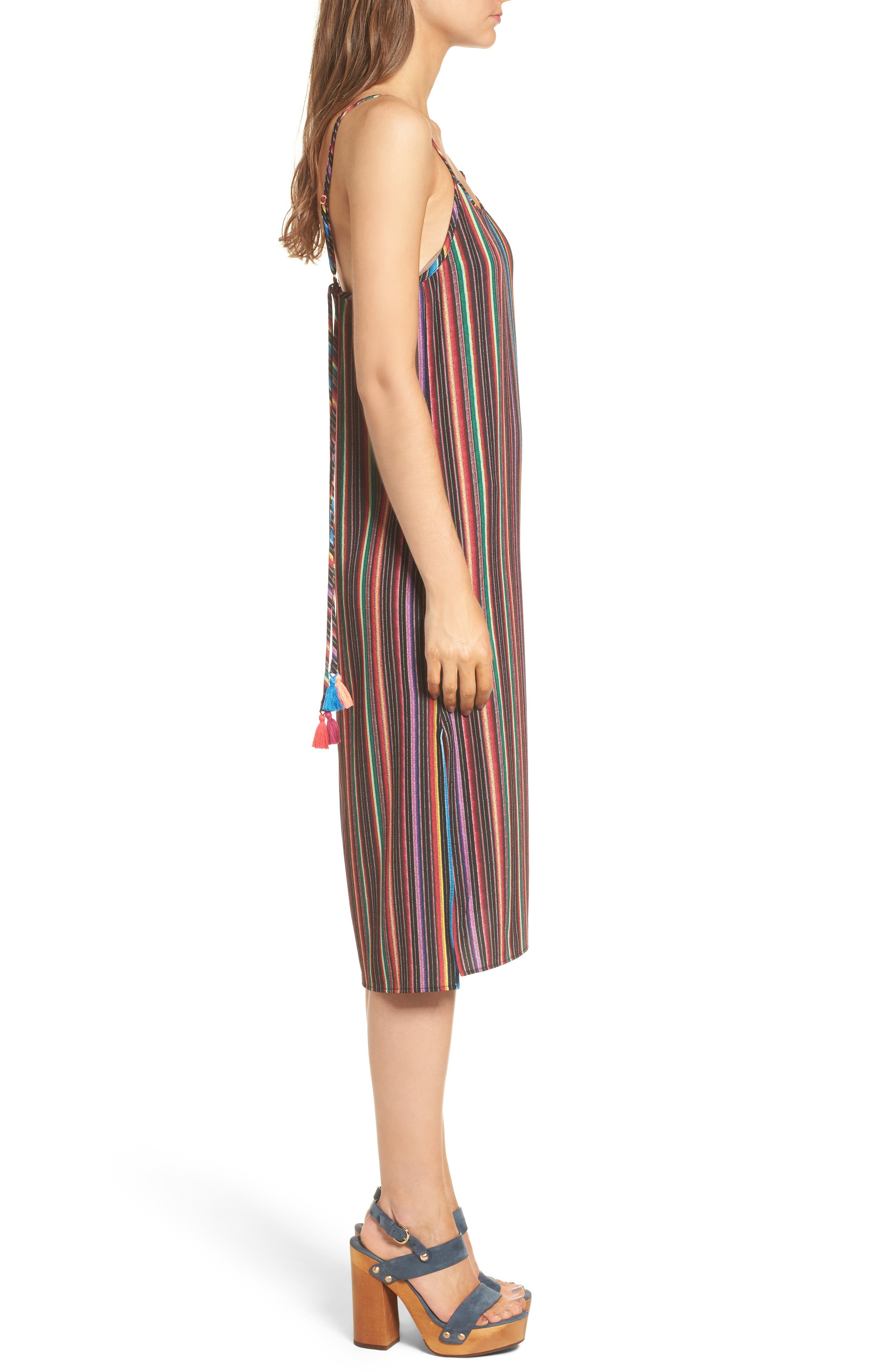 Shiloh Tassel Slipdress,                             Alternate thumbnail 3, color,