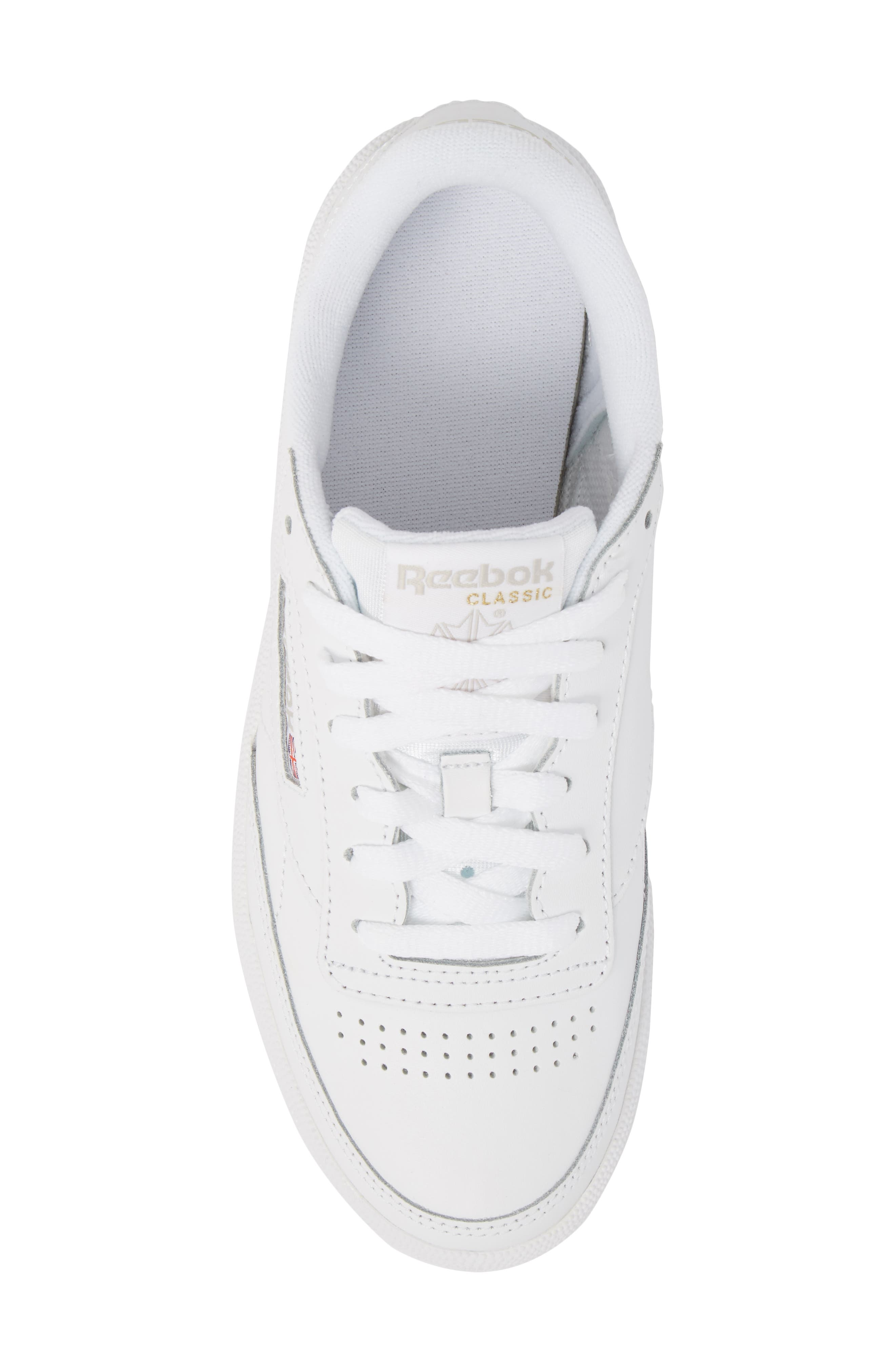 Club C 85 Sneaker,                             Alternate thumbnail 5, color,                             WHITE/ LIGHT GREY