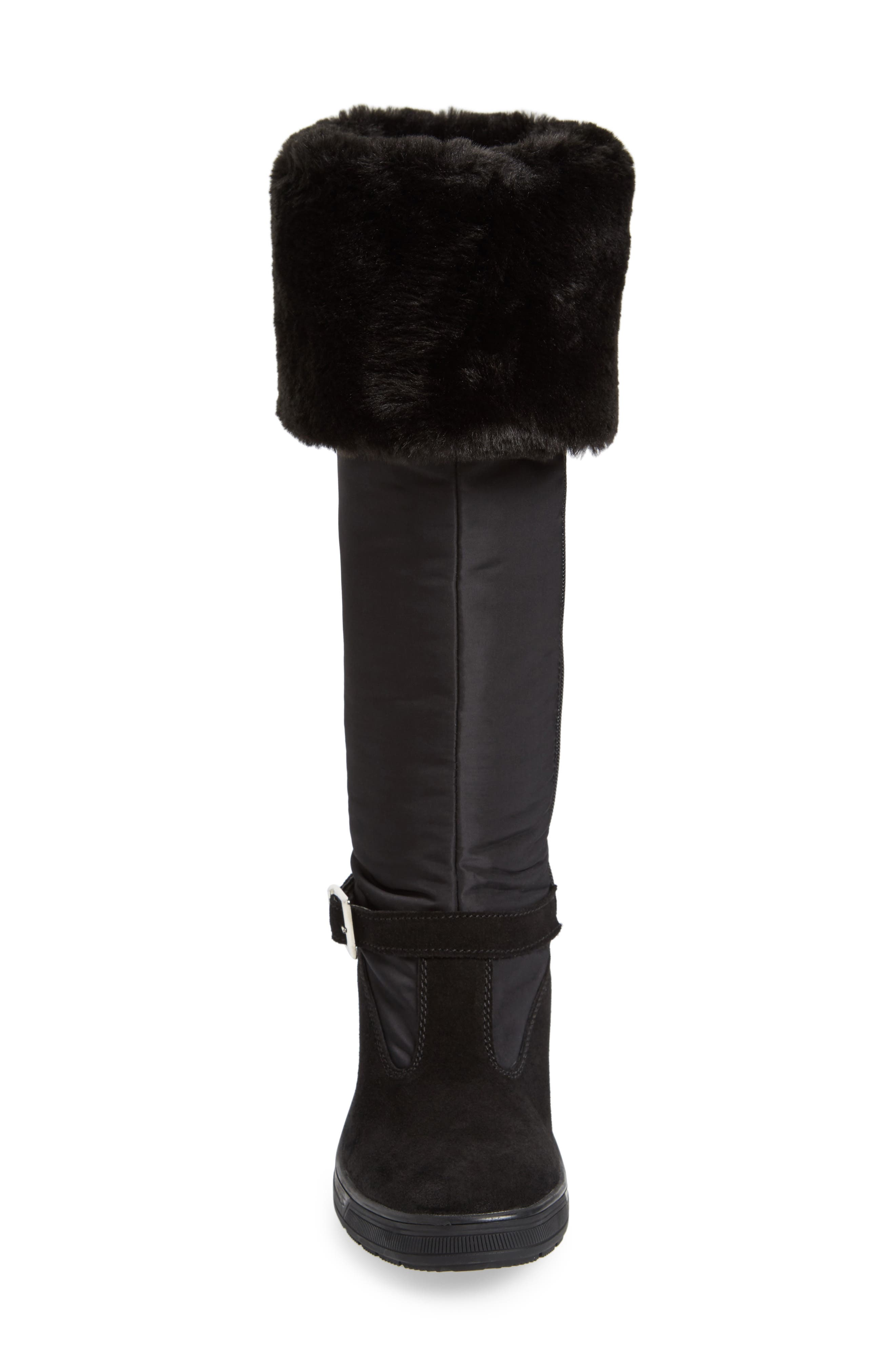 Norah Waterproof Boot with Faux Fur Cuff,                             Alternate thumbnail 4, color,