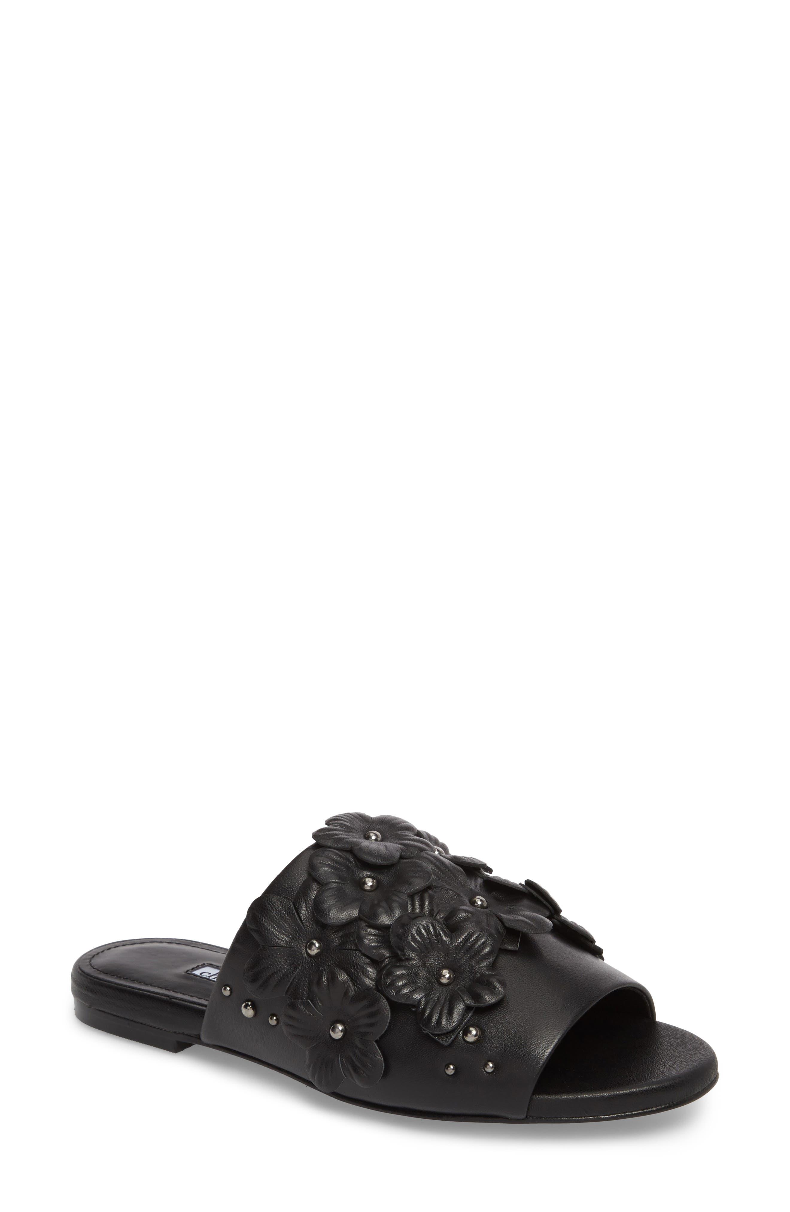 Charles David Sicilian Slide Sandal, Black