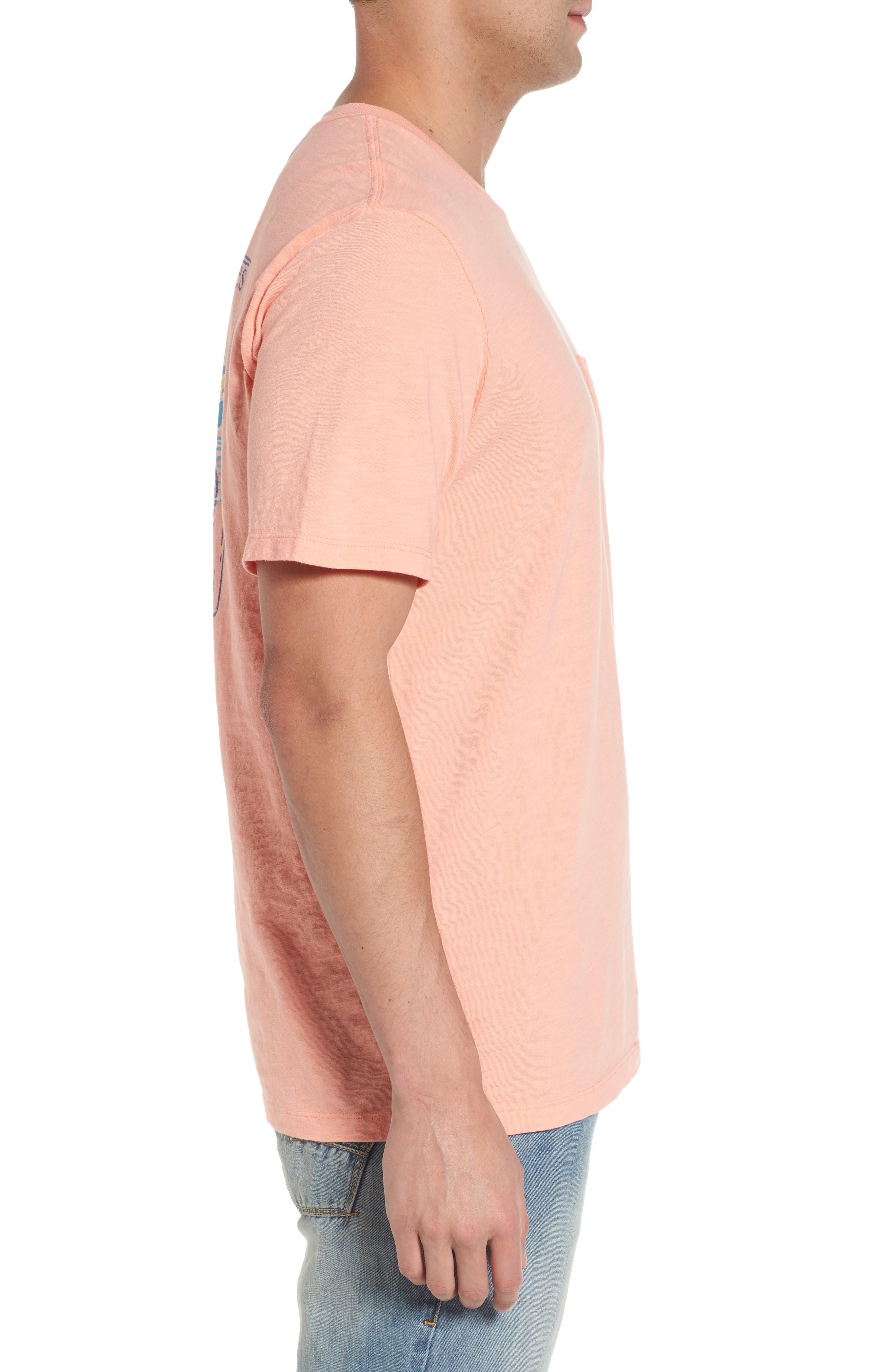 Painted Tarpon Graphic Pocket T-Shirt,                             Alternate thumbnail 3, color,                             821