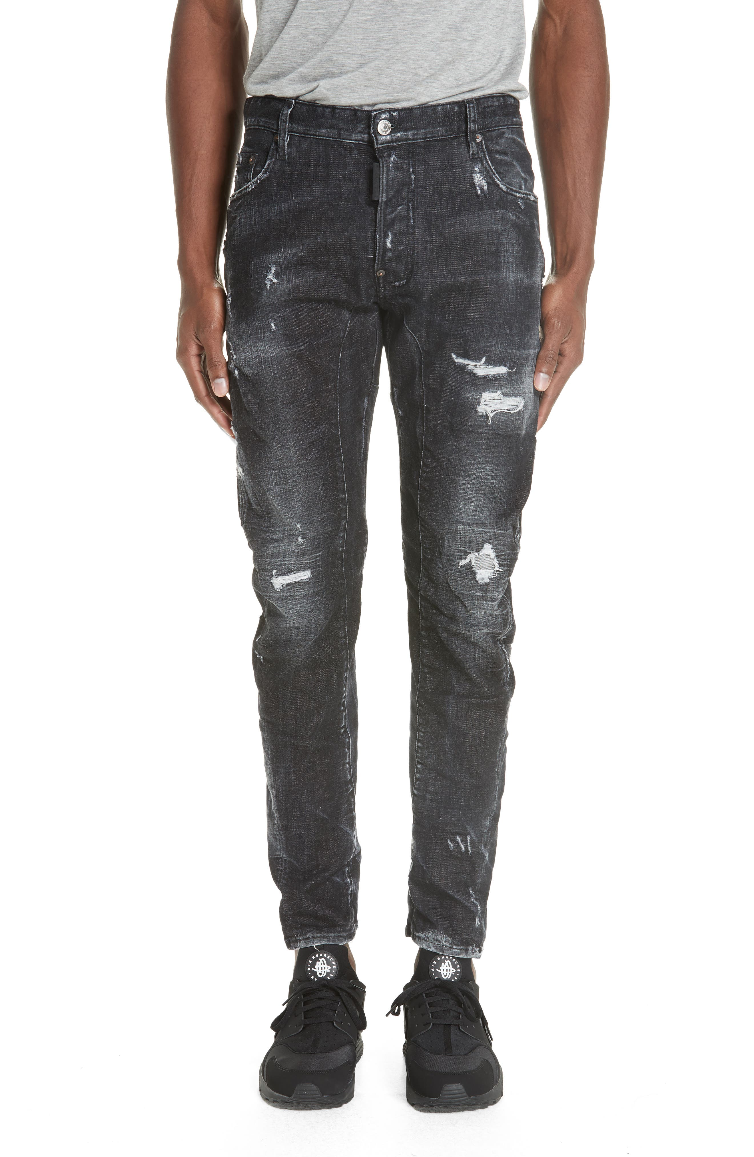 Twin Peaks Wash Tidy Biker Jeans,                             Main thumbnail 1, color,                             001