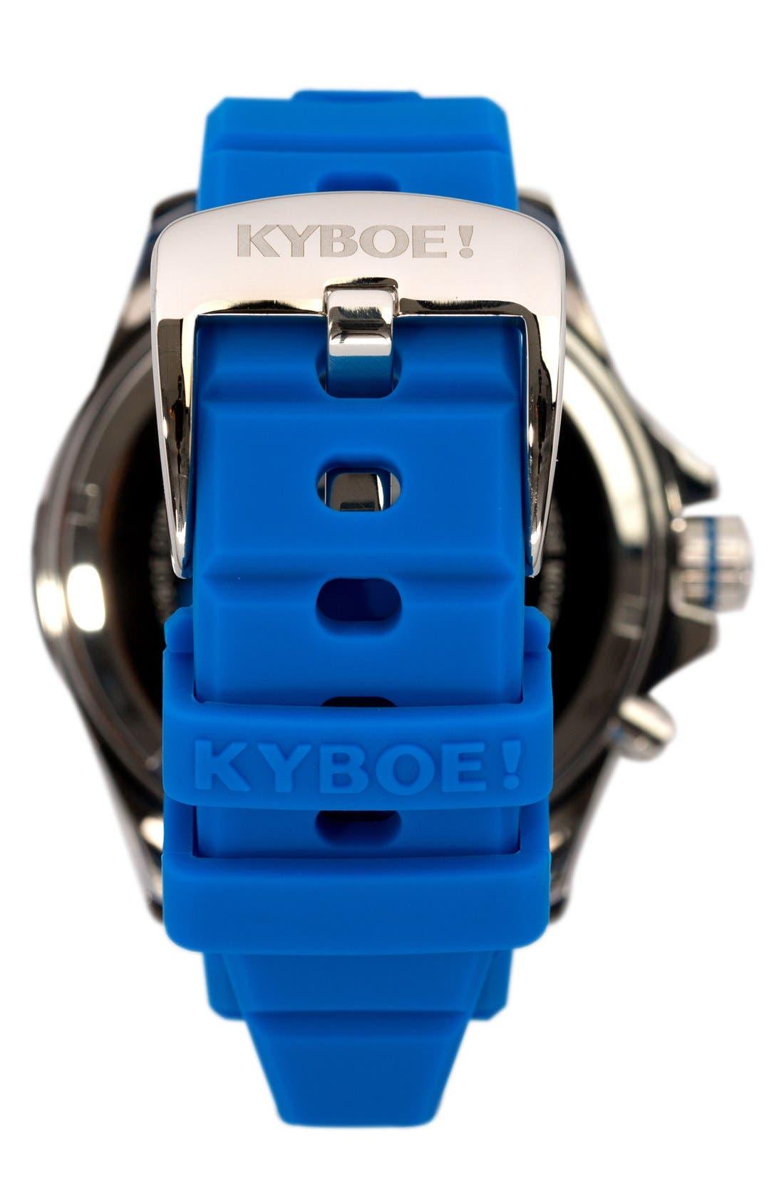 'Power' Silicone Strap Watch, 48mm,                             Alternate thumbnail 2, color,                             GITANE BLUE/ GITANE BLUE