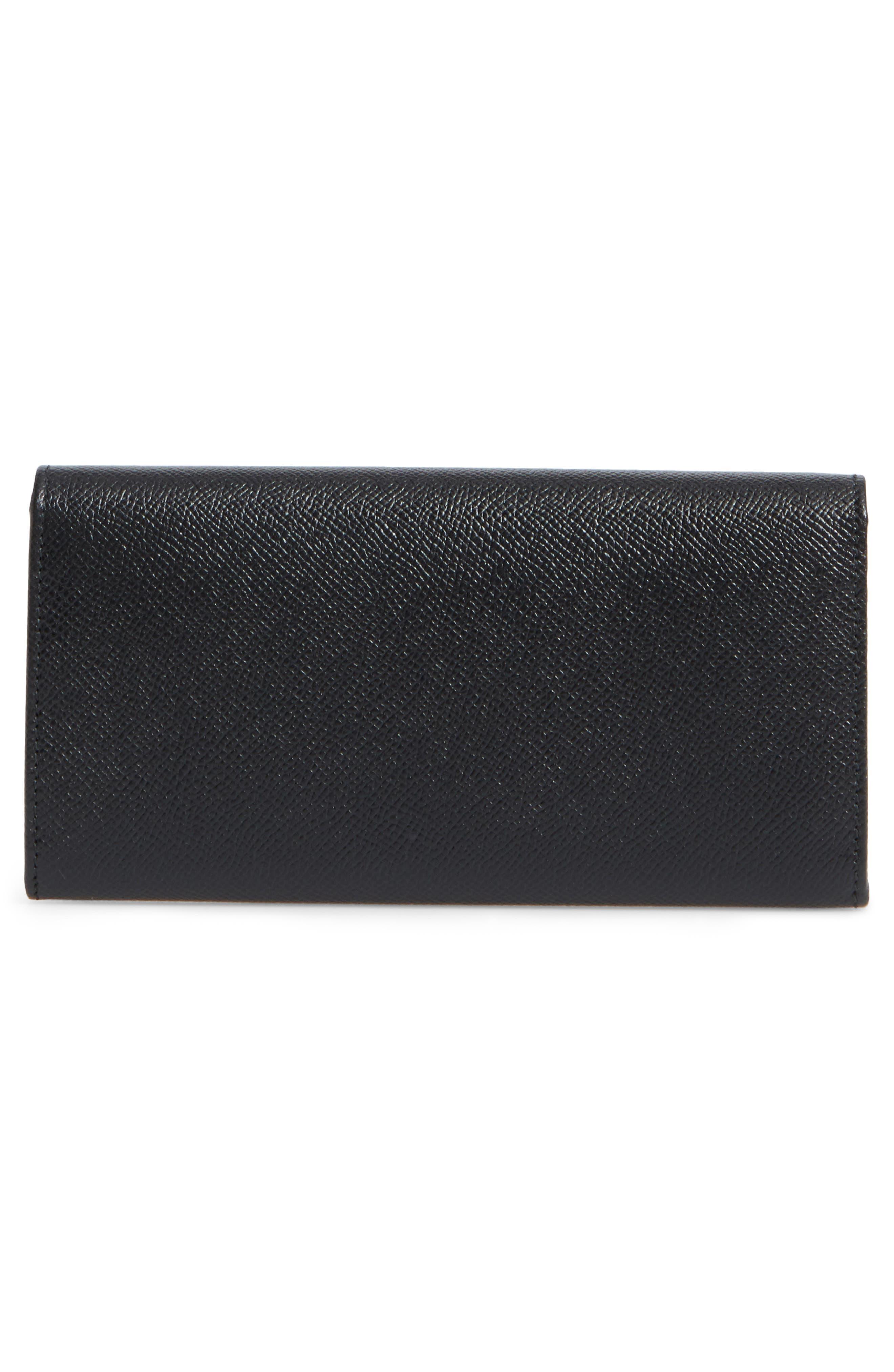 Bar Saffiano Calfskin Wallet,                             Alternate thumbnail 4, color,