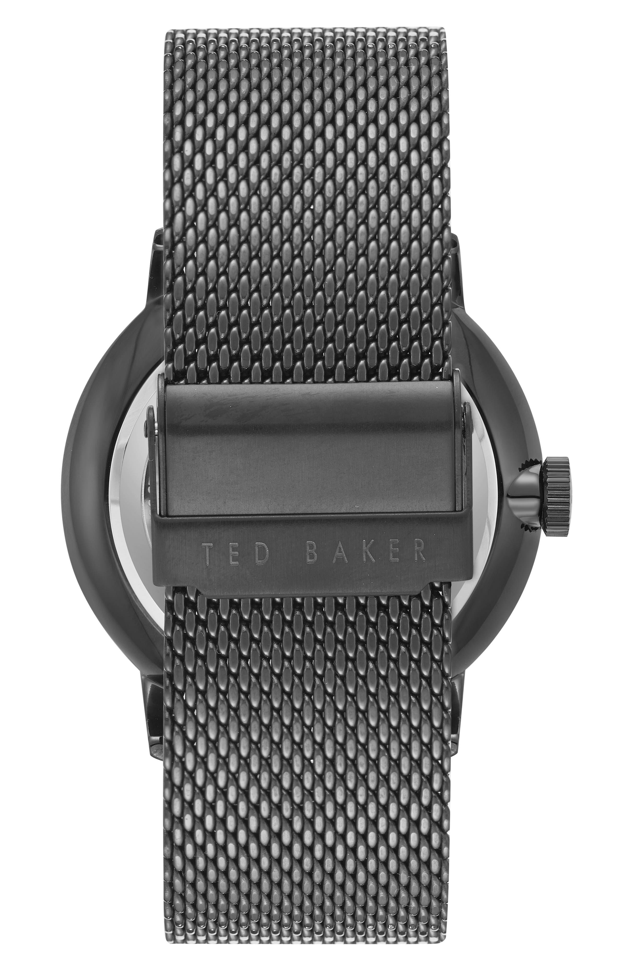 Owen Mesh Strap Watch, 42mm,                             Alternate thumbnail 2, color,                             003