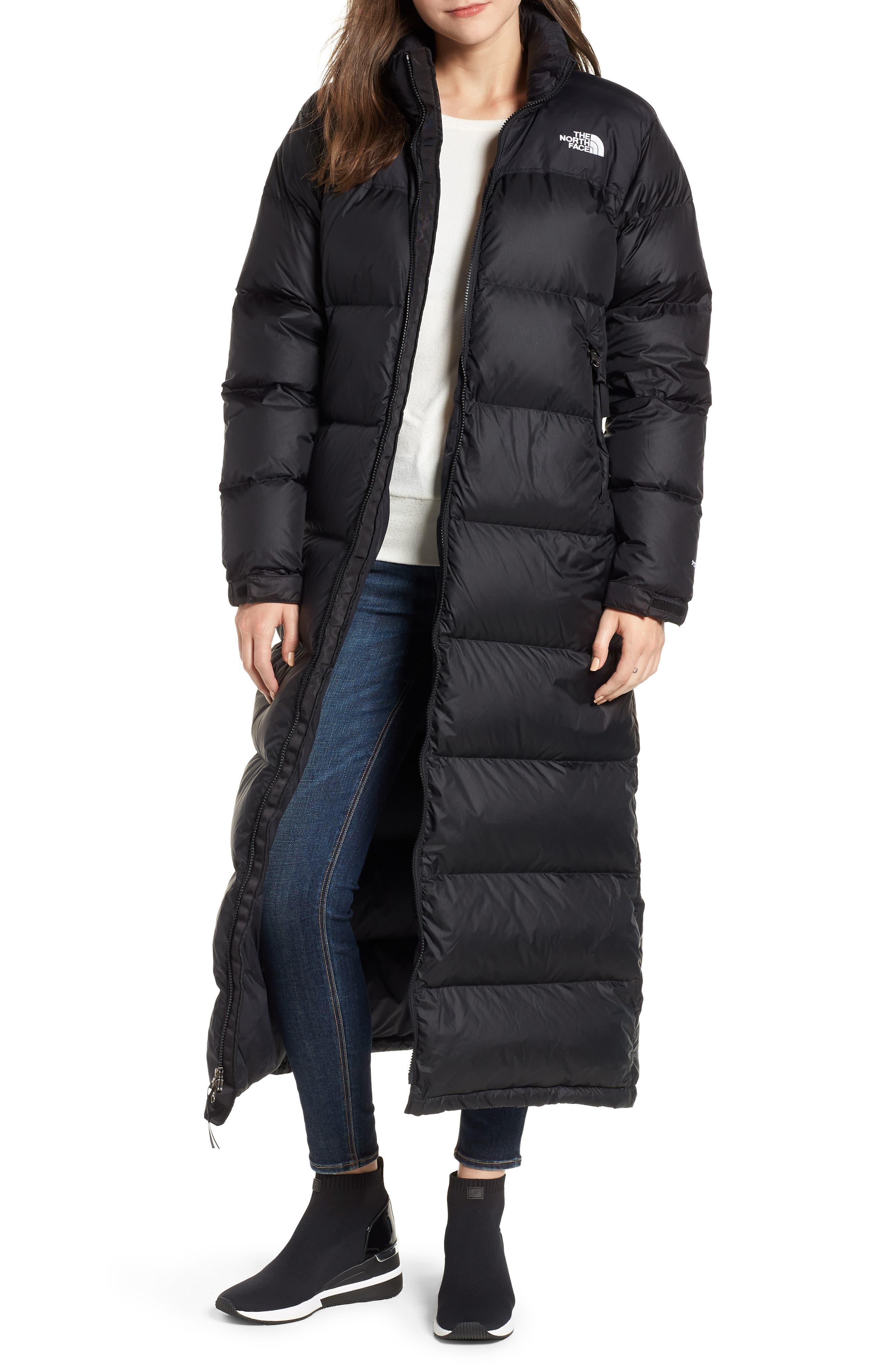 Nuptse Down Coat,                         Main,                         color, TNF BLACK