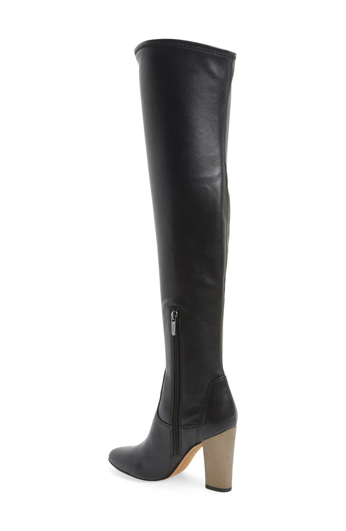 'Brooklyn' Over the Knee Boot,                             Alternate thumbnail 4, color,                             001