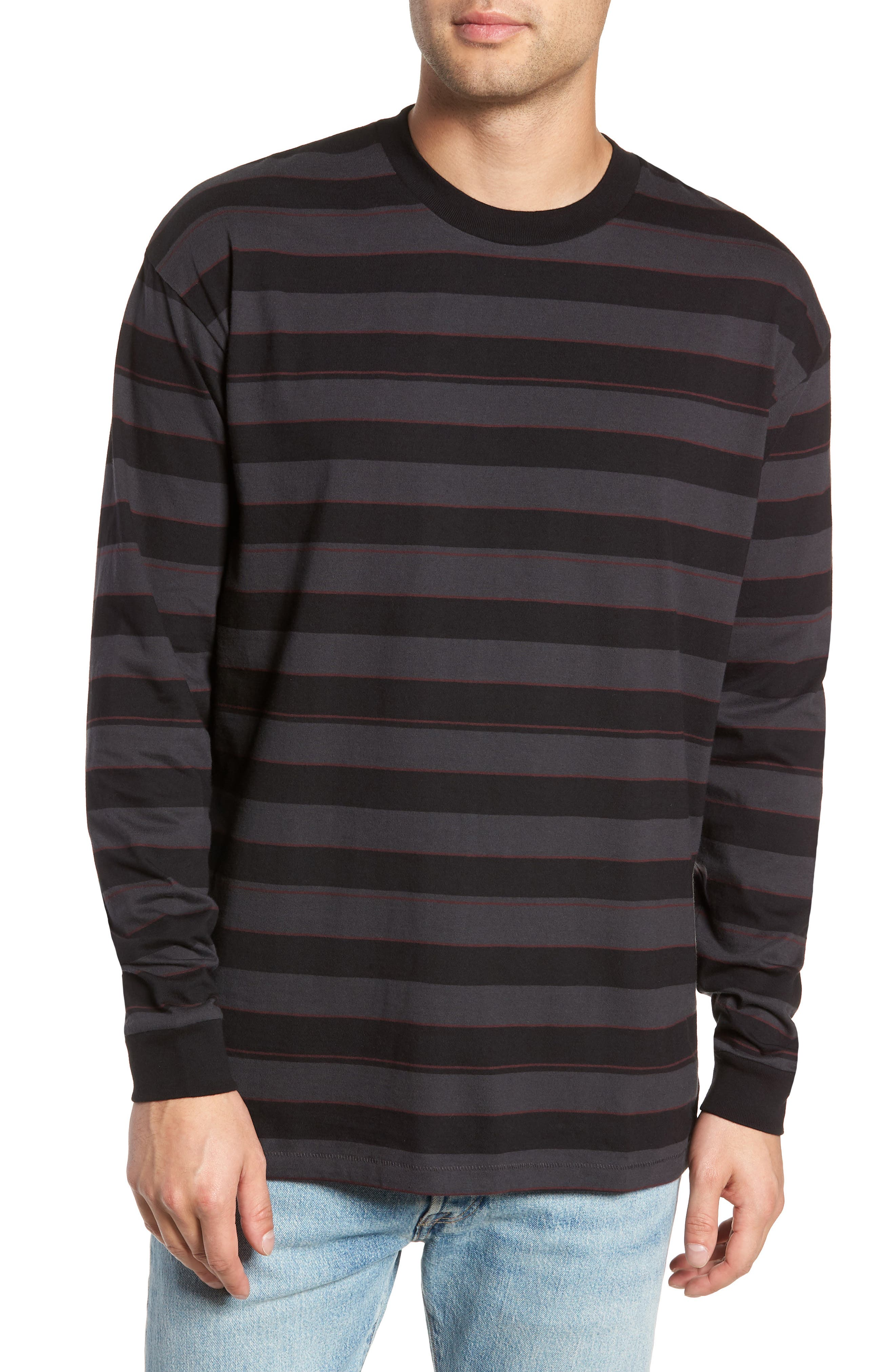 Hoop Box Long Sleeve T-Shirt,                             Main thumbnail 1, color,                             VINTAGE BLACK/ BLACK
