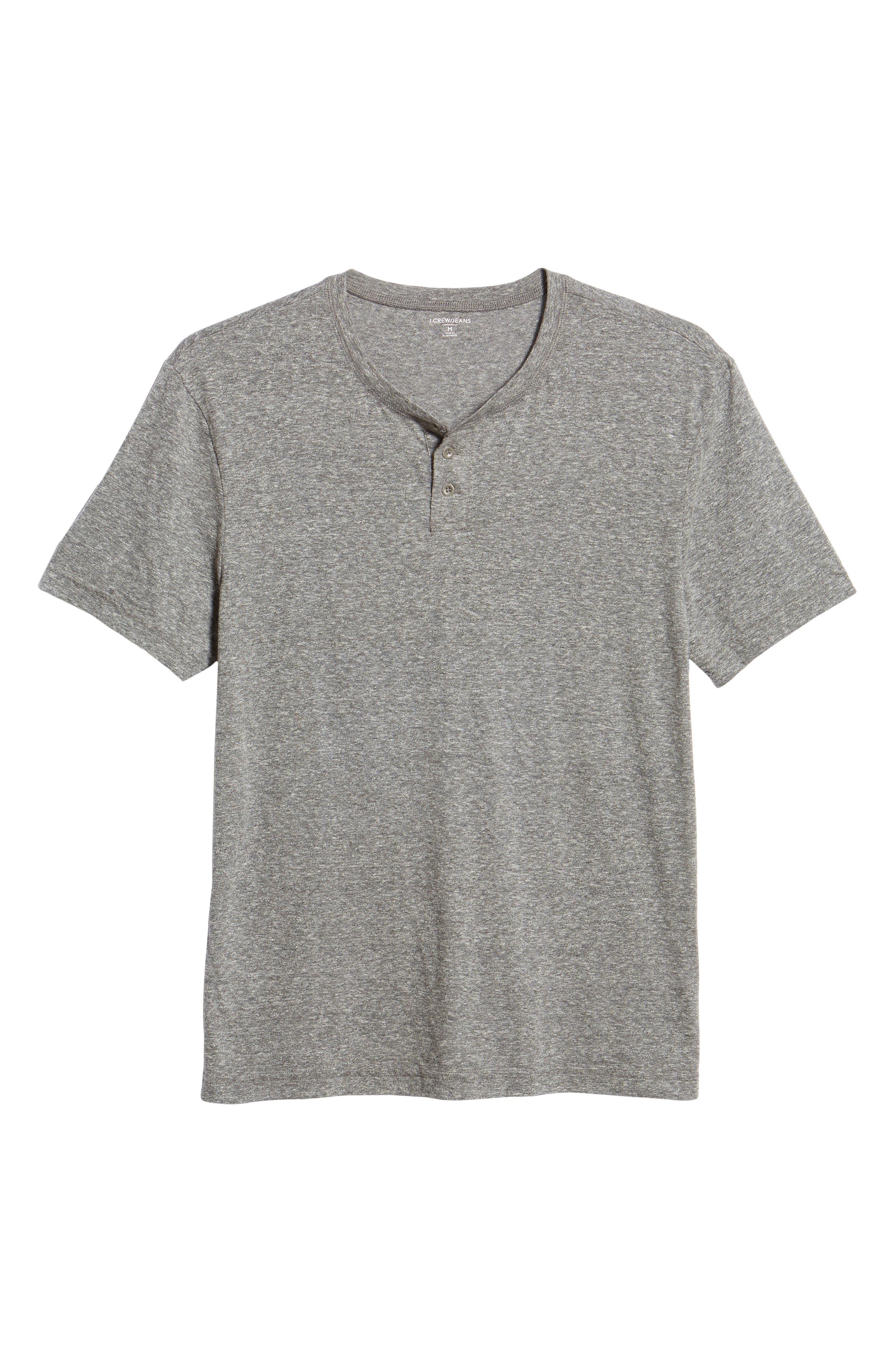 Triblend Henley Shirt,                             Alternate thumbnail 6, color,                             020
