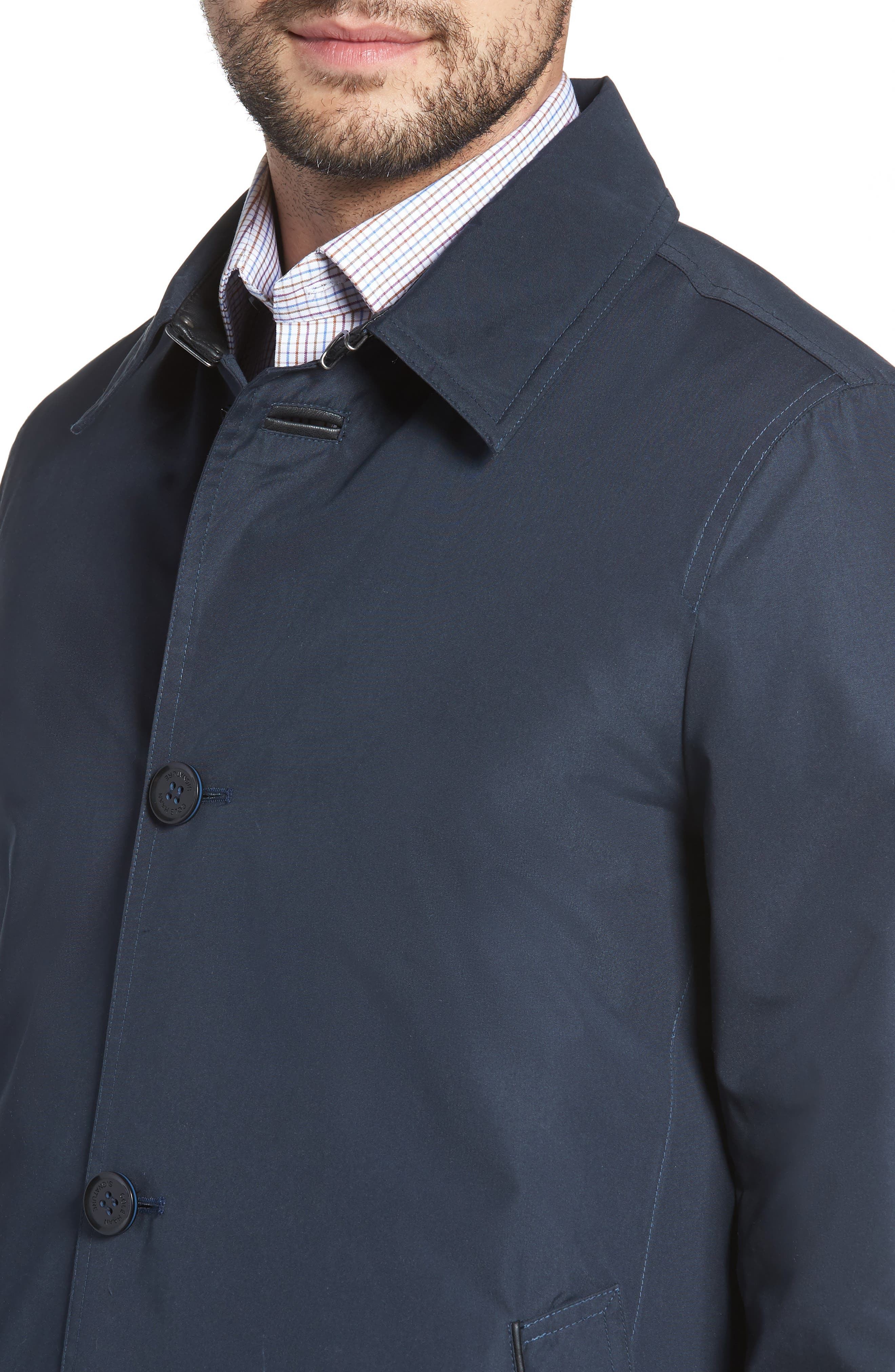 Cole Haan Water Resistant Car Coat,                             Alternate thumbnail 4, color,                             410