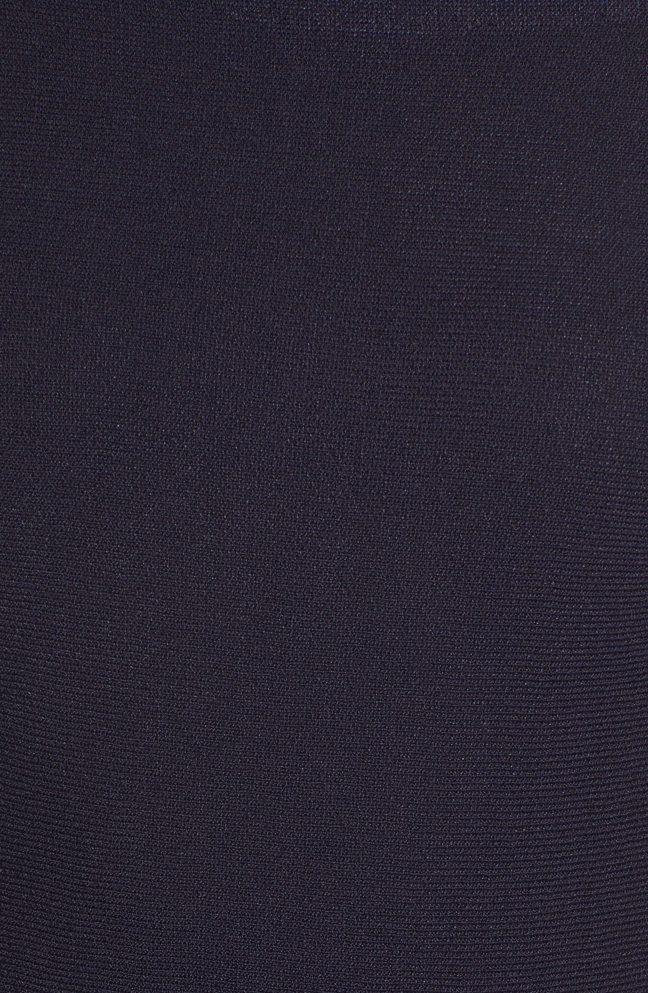 ELIZA J,                             Fit & Flare Knit Dress,                             Alternate thumbnail 6, color,                             BABY BLUE MULTI