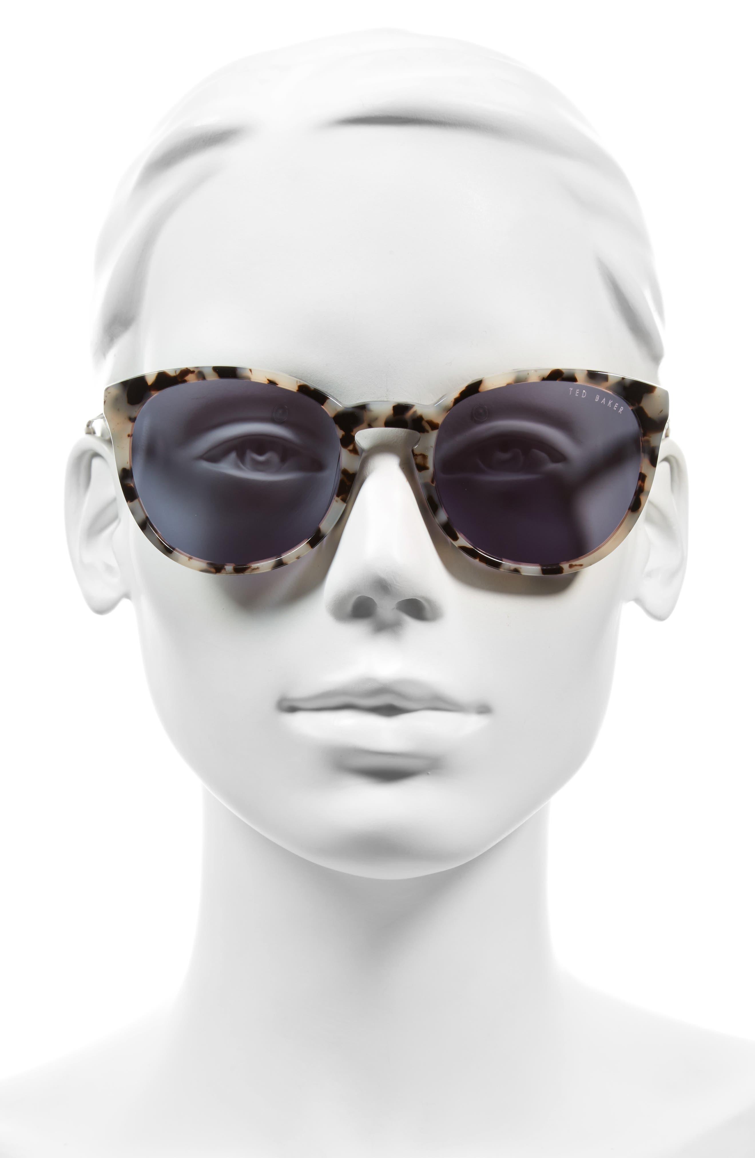 53mm Round Sunglasses,                             Alternate thumbnail 3, color,