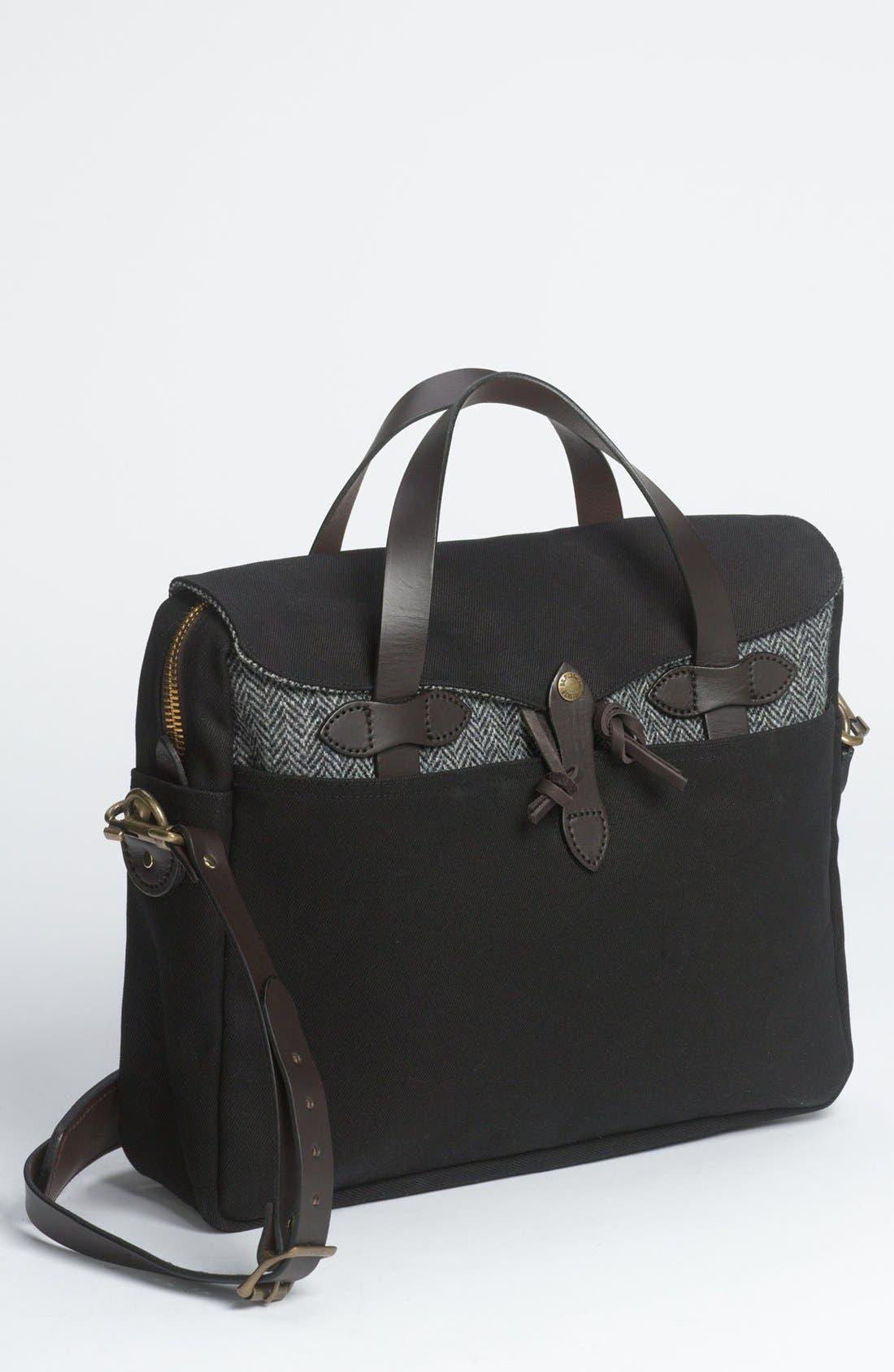 'Original' Twill Briefcase,                         Main,                         color, 001